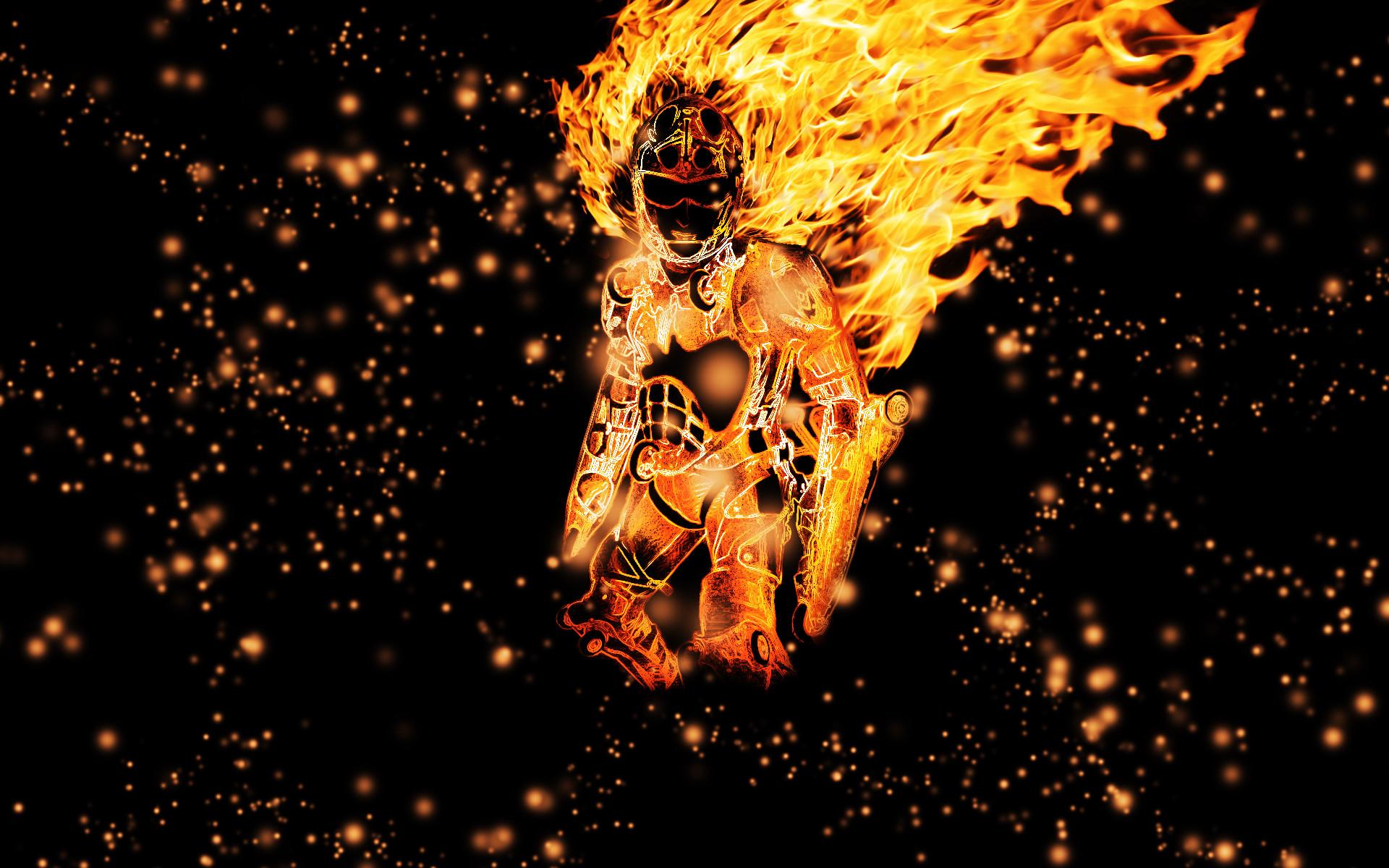 Fire Wallpapers For Desktop: Fireman Wallpaper ·①