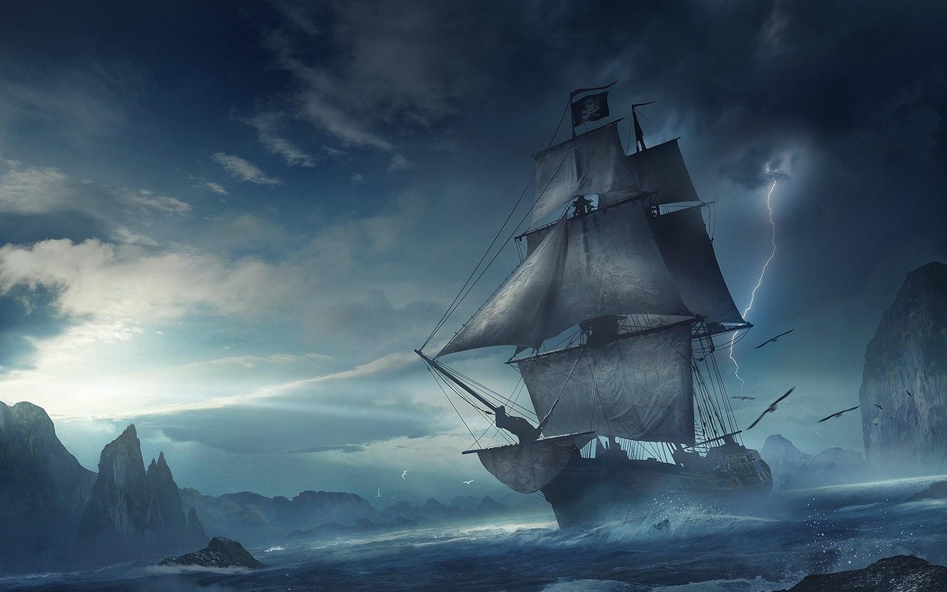 Обои для рабочего стола летучий голландец пираты карибского моря