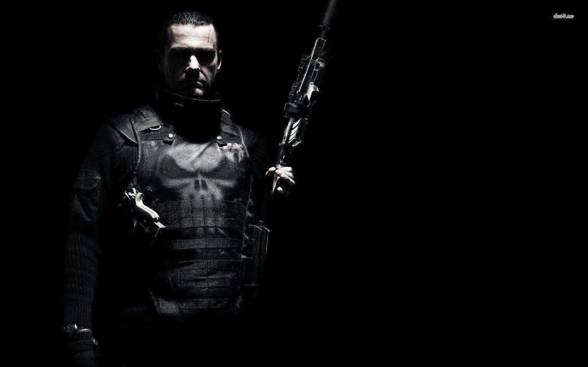 Handsome Prabhas In Black Shirt And Goggle Hd Wallpaper: Punisher Wallpaper Skull ·①