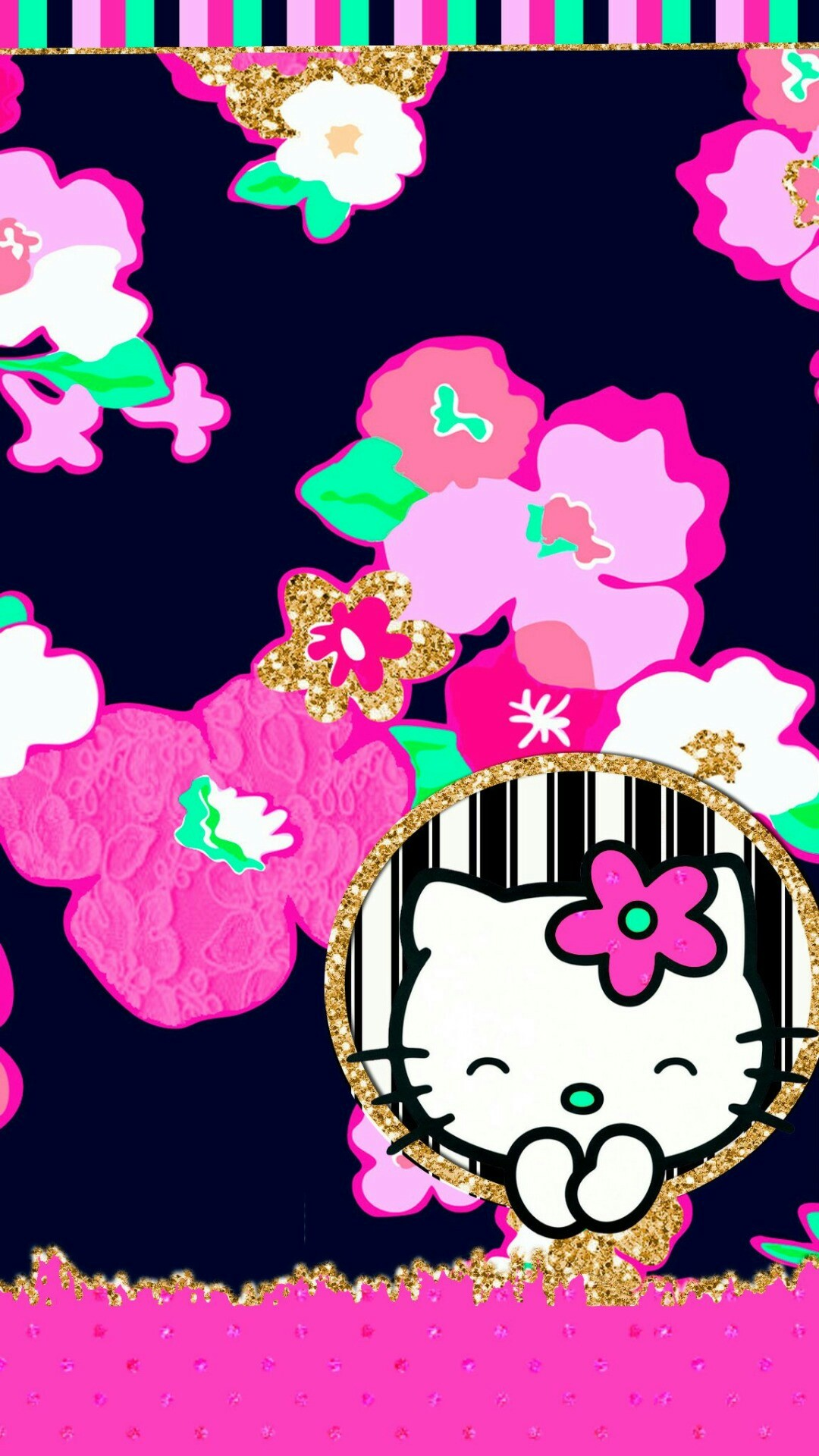 1242x2208 Hello Kitty Art
