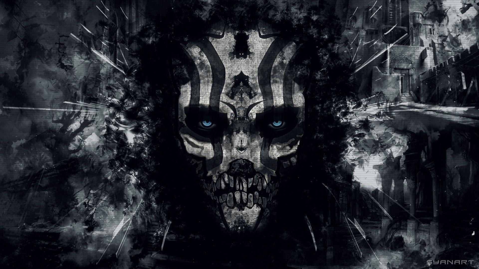 Evil Skull Wallpaper Wallpapertag
