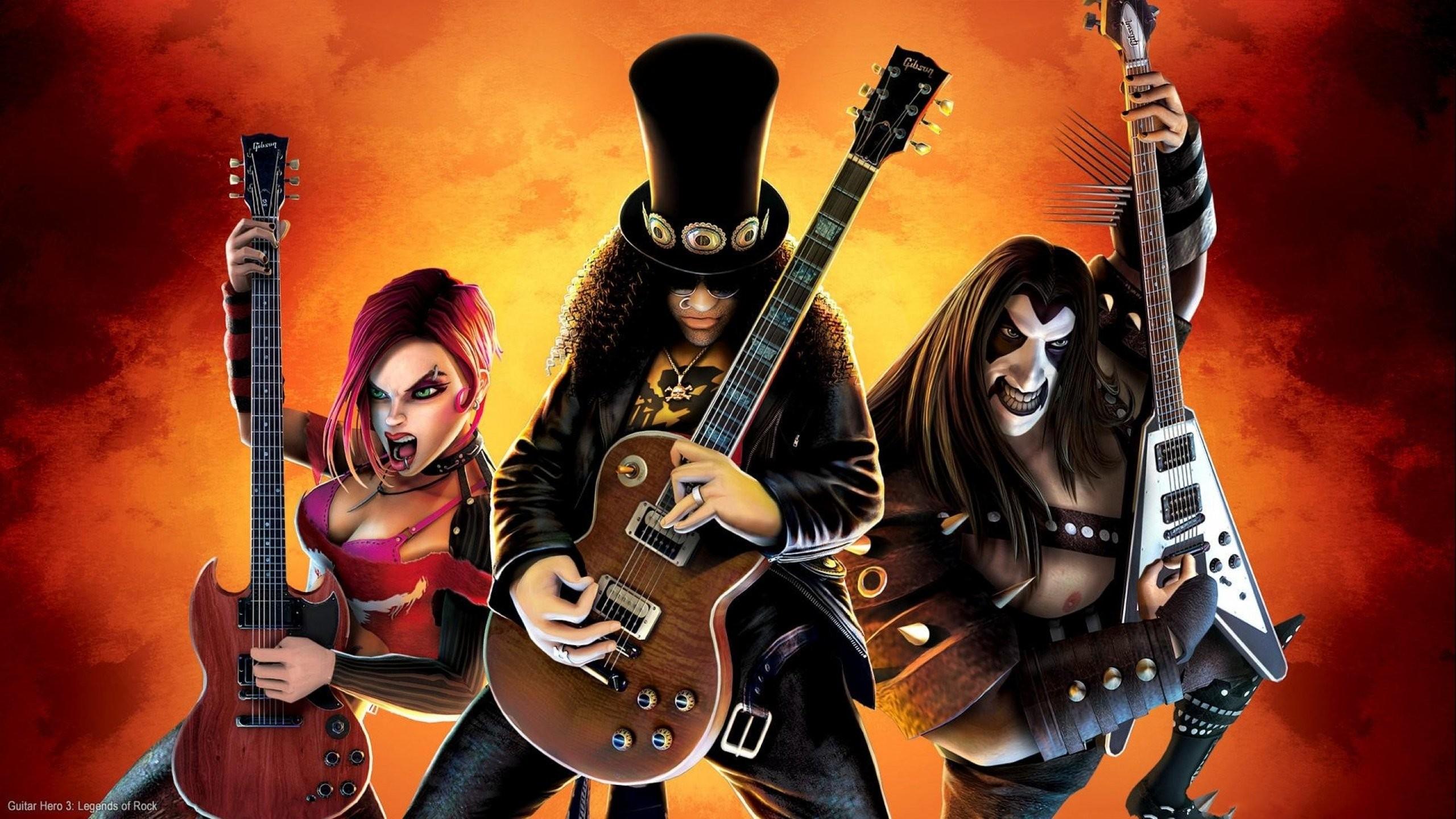 slash guitar wallpaper â