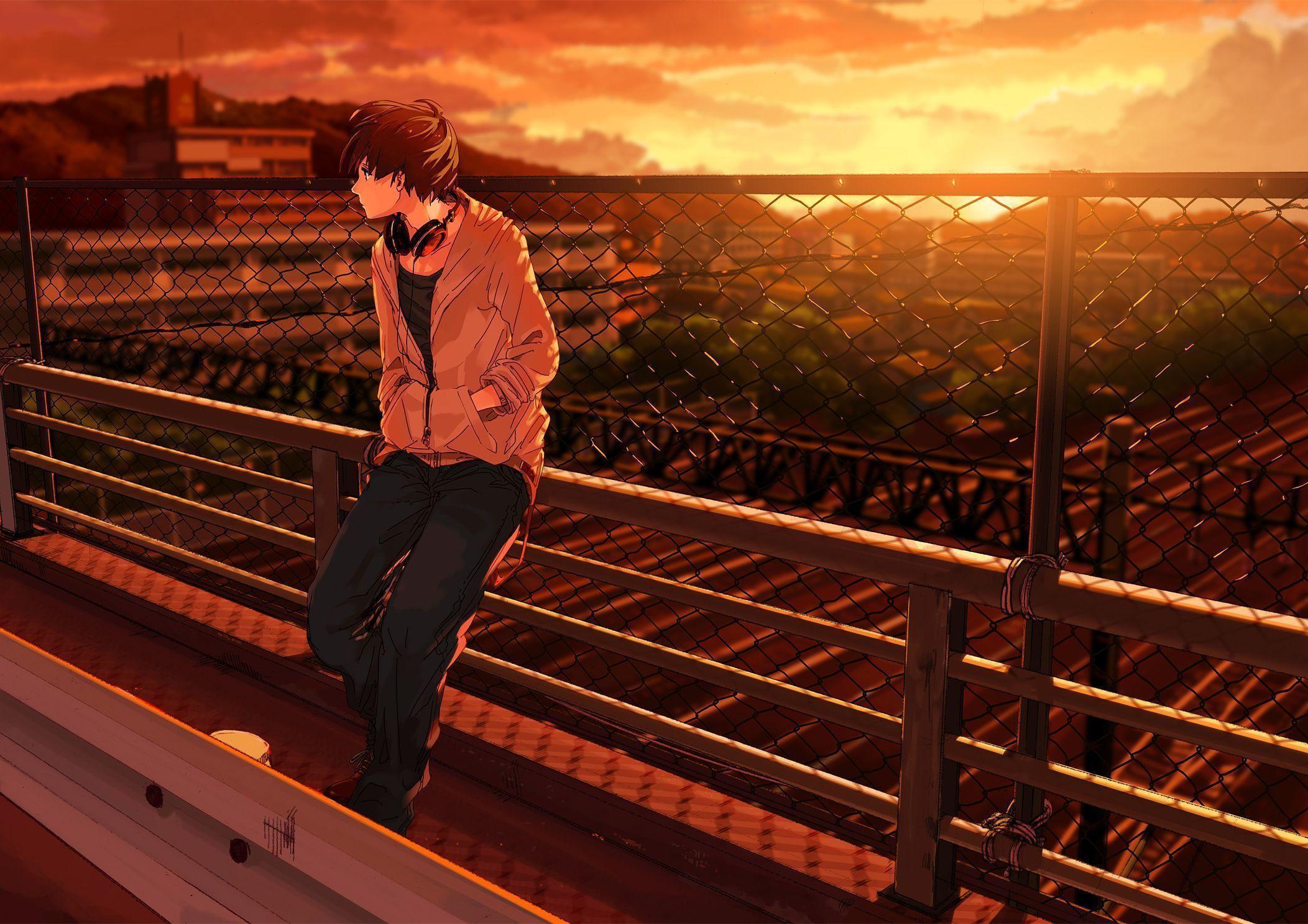 Sad Anime Boy Wallpaper