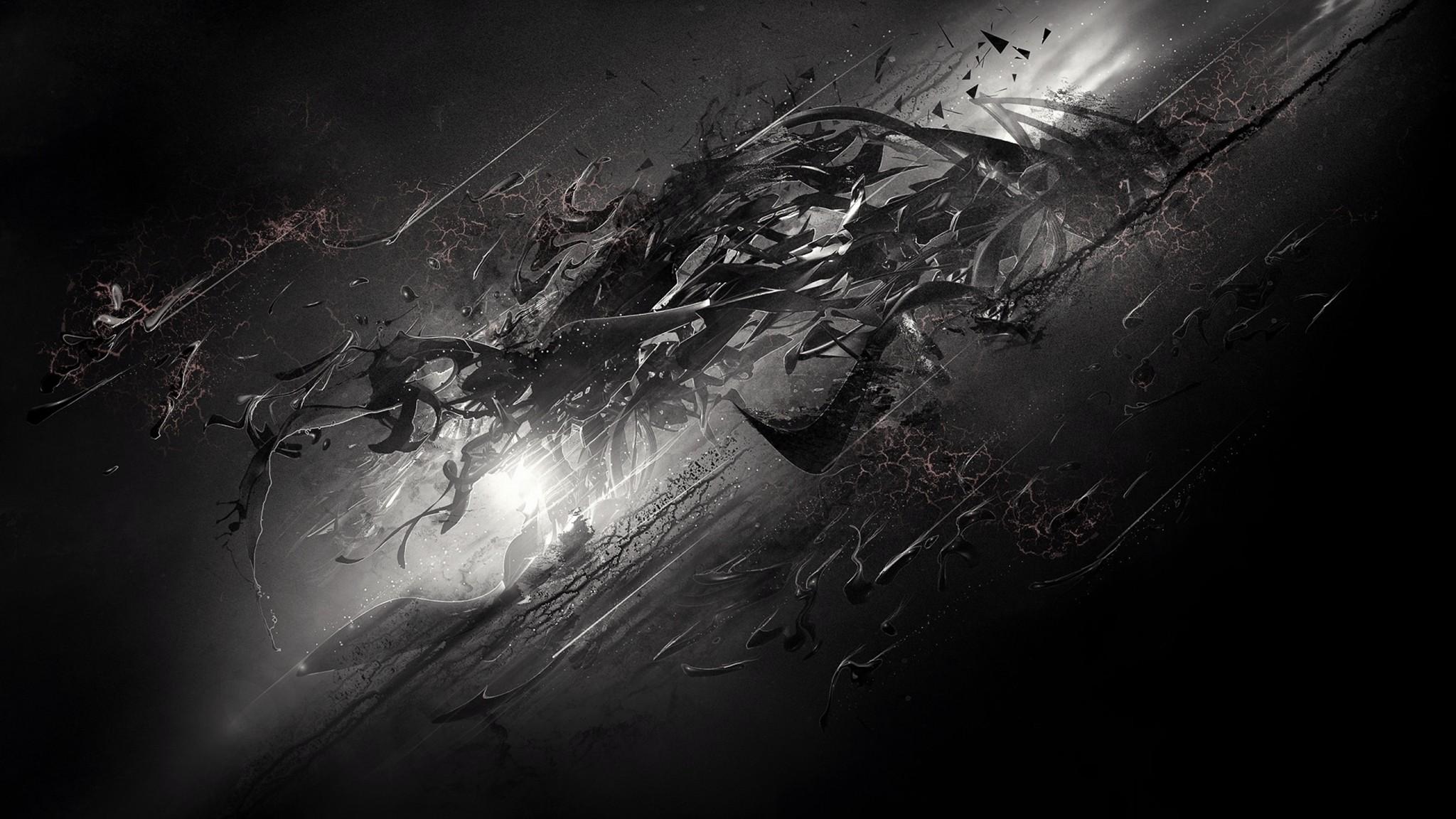 Dark Desktop Background ·①