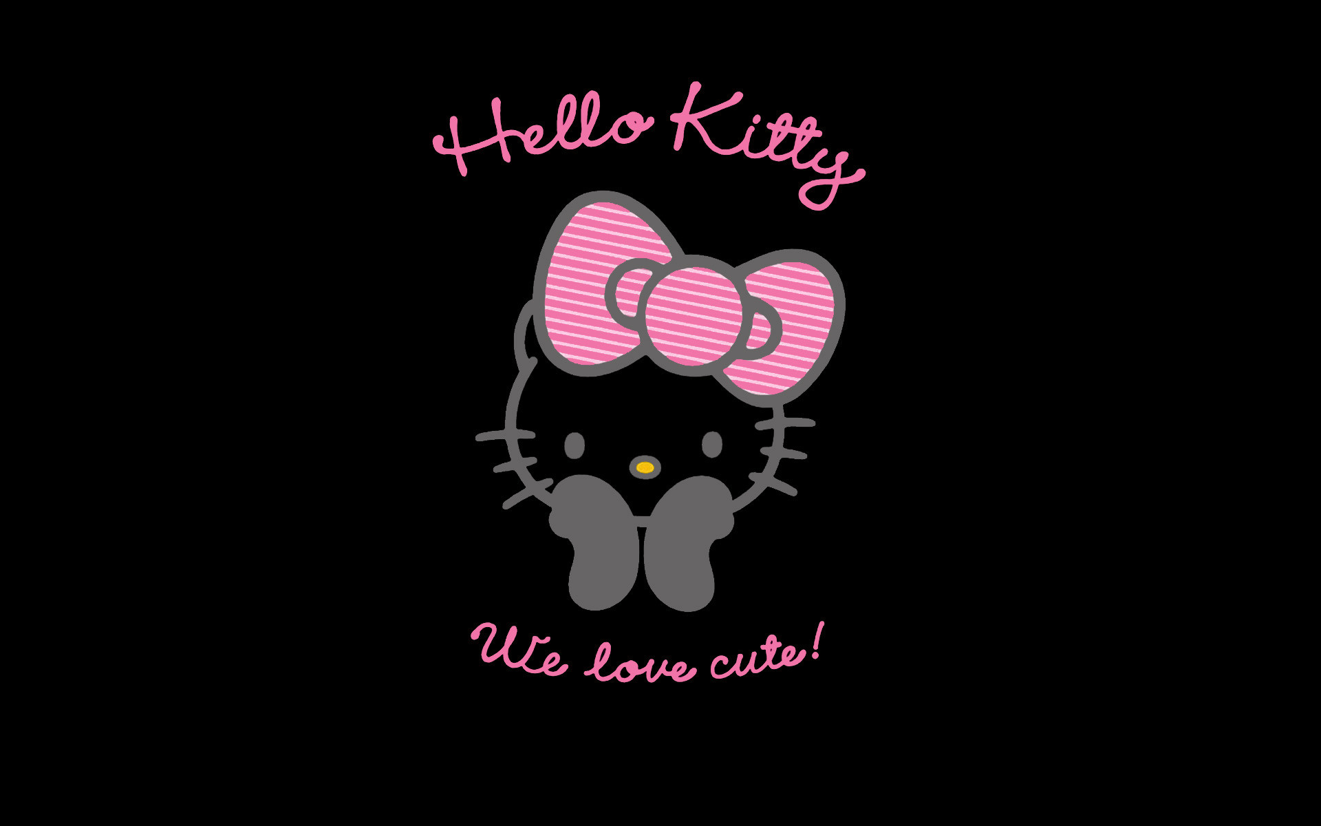 Black And Pink Hello Kitty Wallpaper Wallpapertag