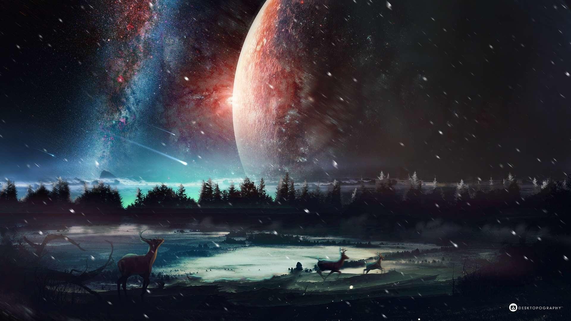 hd universe wallpaper ·①