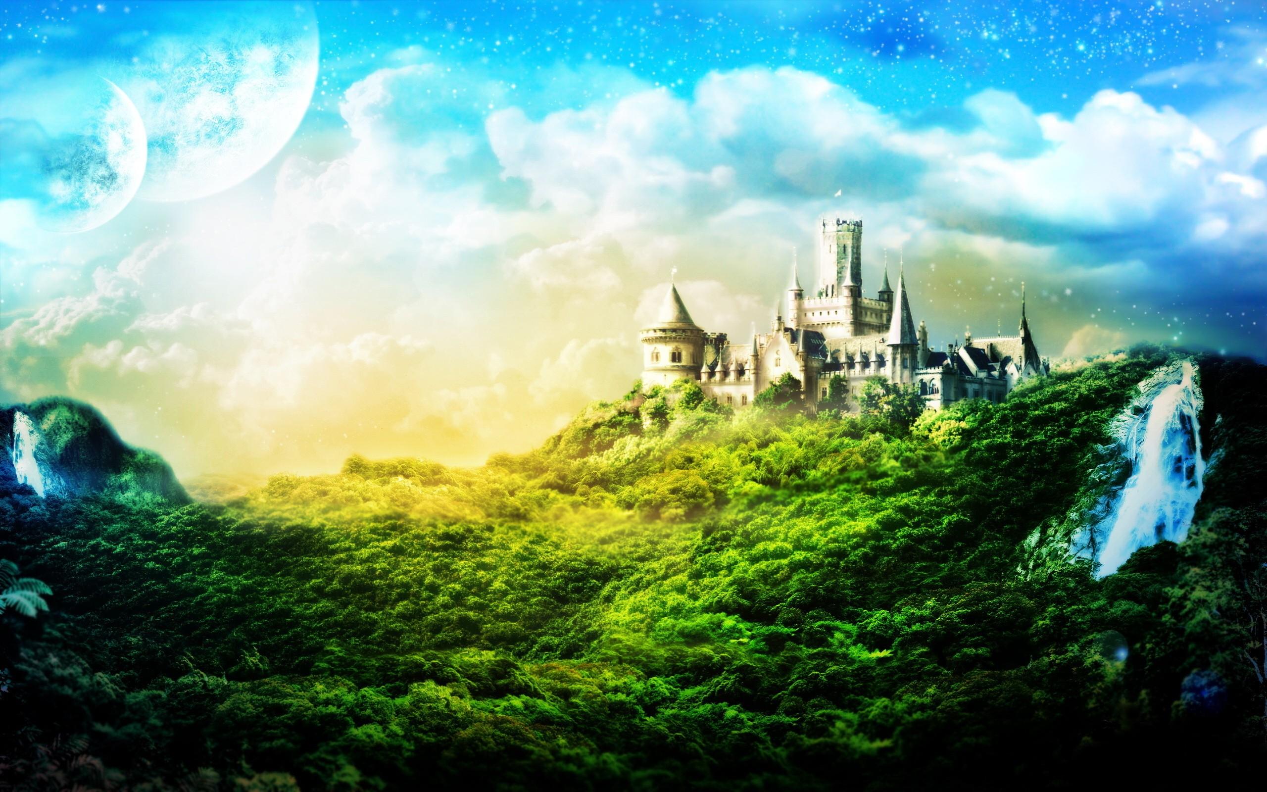 Замок в лучах света  № 917198 бесплатно