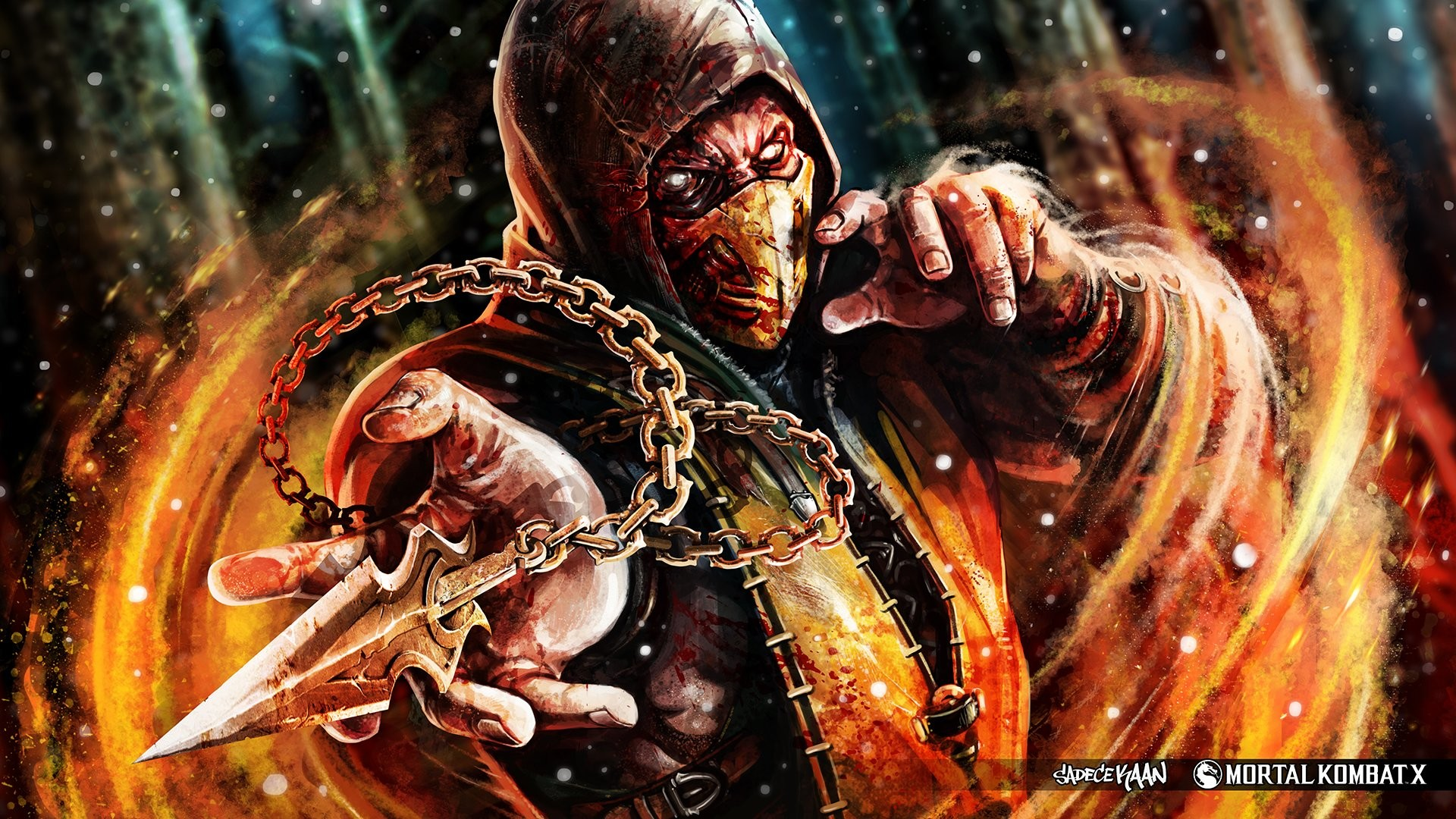 Mortal Kombat Scorpion Vs Sub Zero Wallpaper 1