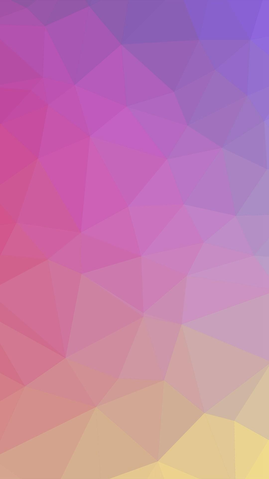 1080x1920 Polyart Pastel Pink Yellow Pattern IPhone 7 Wallpaper Download 1920x1080