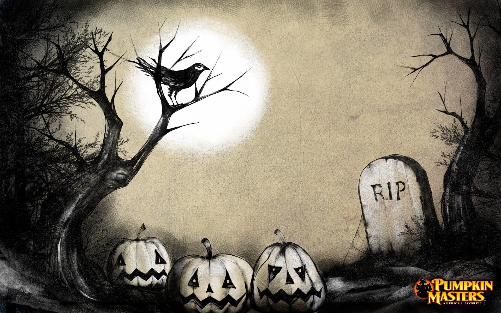 Halloween Graveyard Full Moon - YouTube  Halloween Tombstone Background