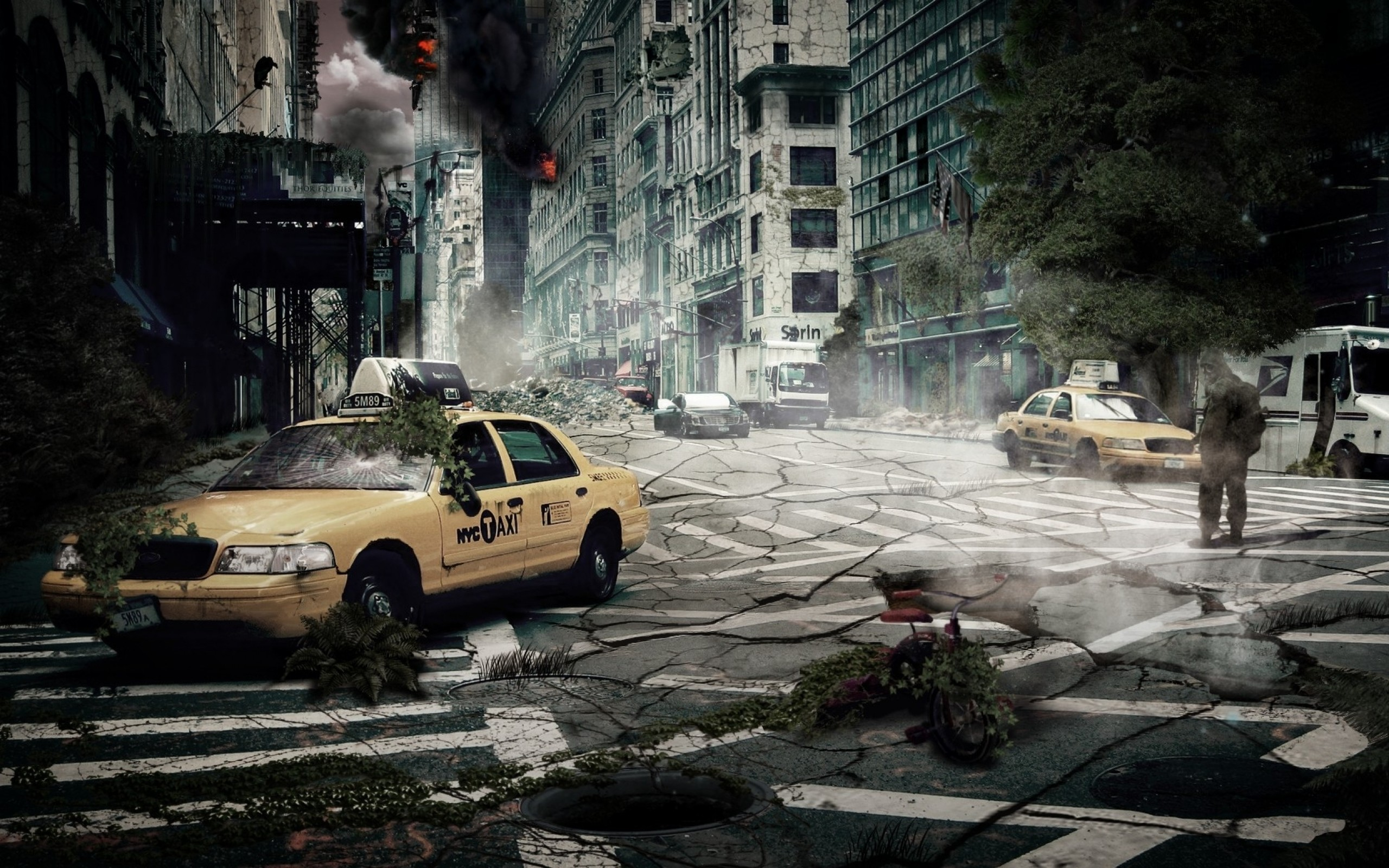 End of the world wallpaper 2560x1600 download wallpaper back cityscapes end of the world voltagebd Image collections