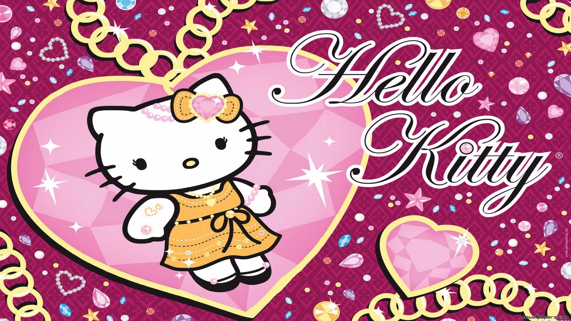 Wallpaper hello kitty 1920x1080 hello kitty wallpapers pack download purple voltagebd Image collections