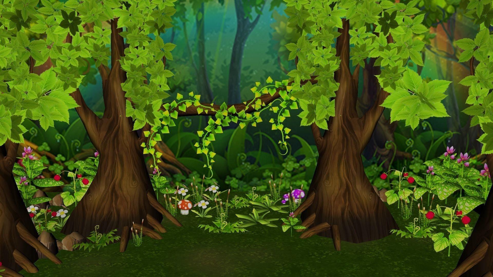 Картинка сказочный лес для презентации