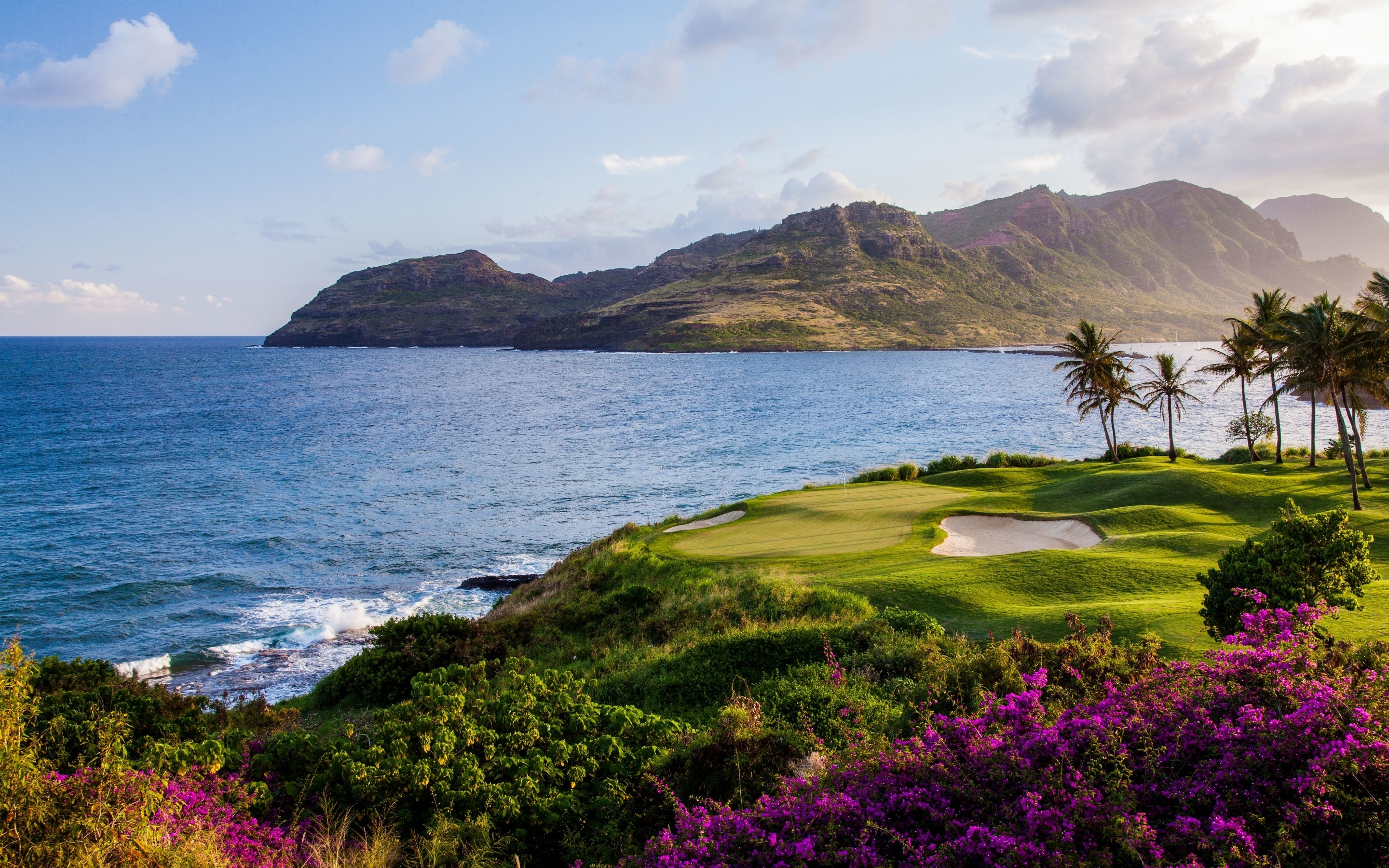 2880x1800 Ocean Golf Course 2880 x 1800 Retina Display wallpaper
