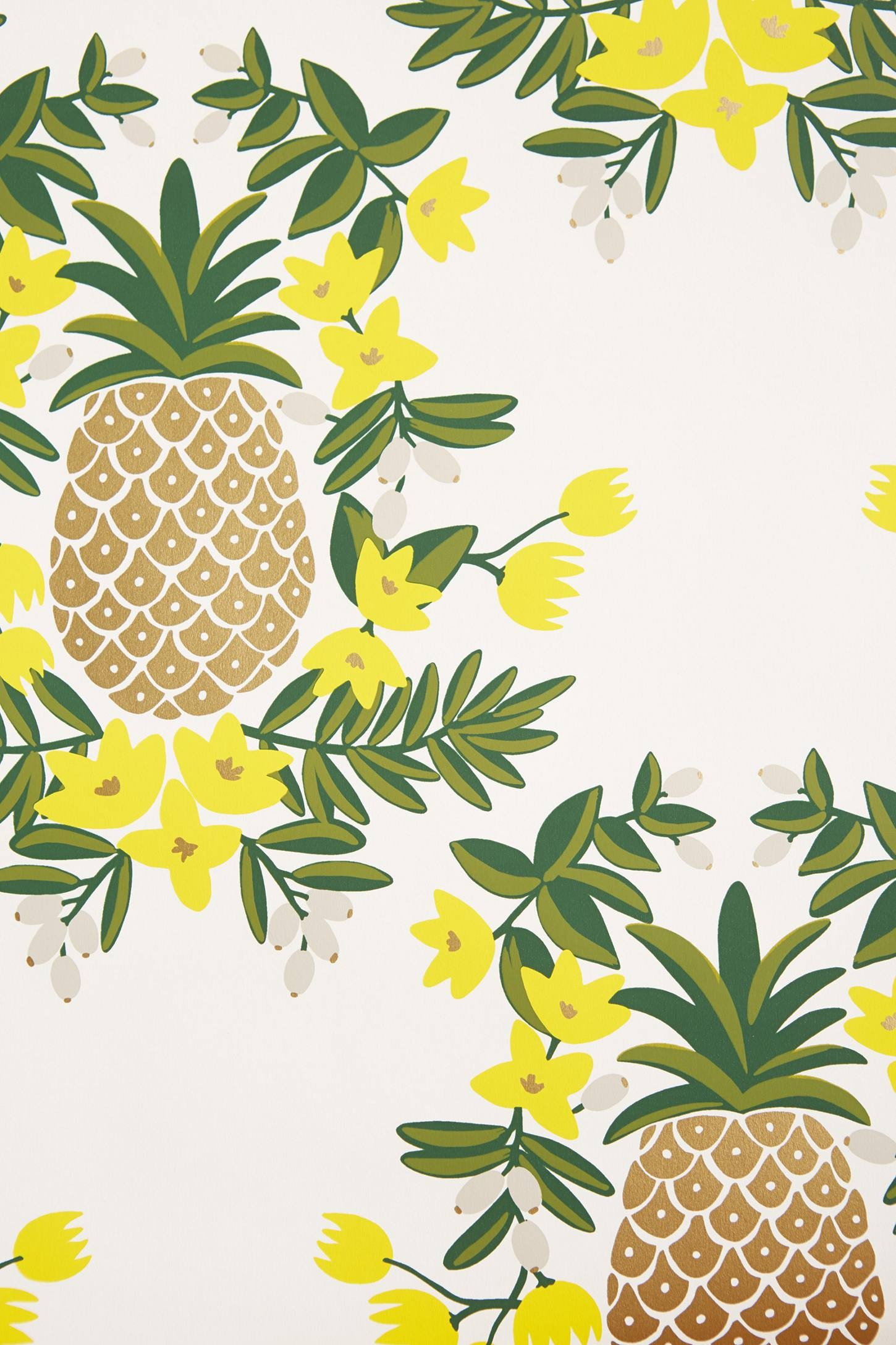 Pineapple wallpaper pineapple wallpaper by mindthegap Kitchen screensaver