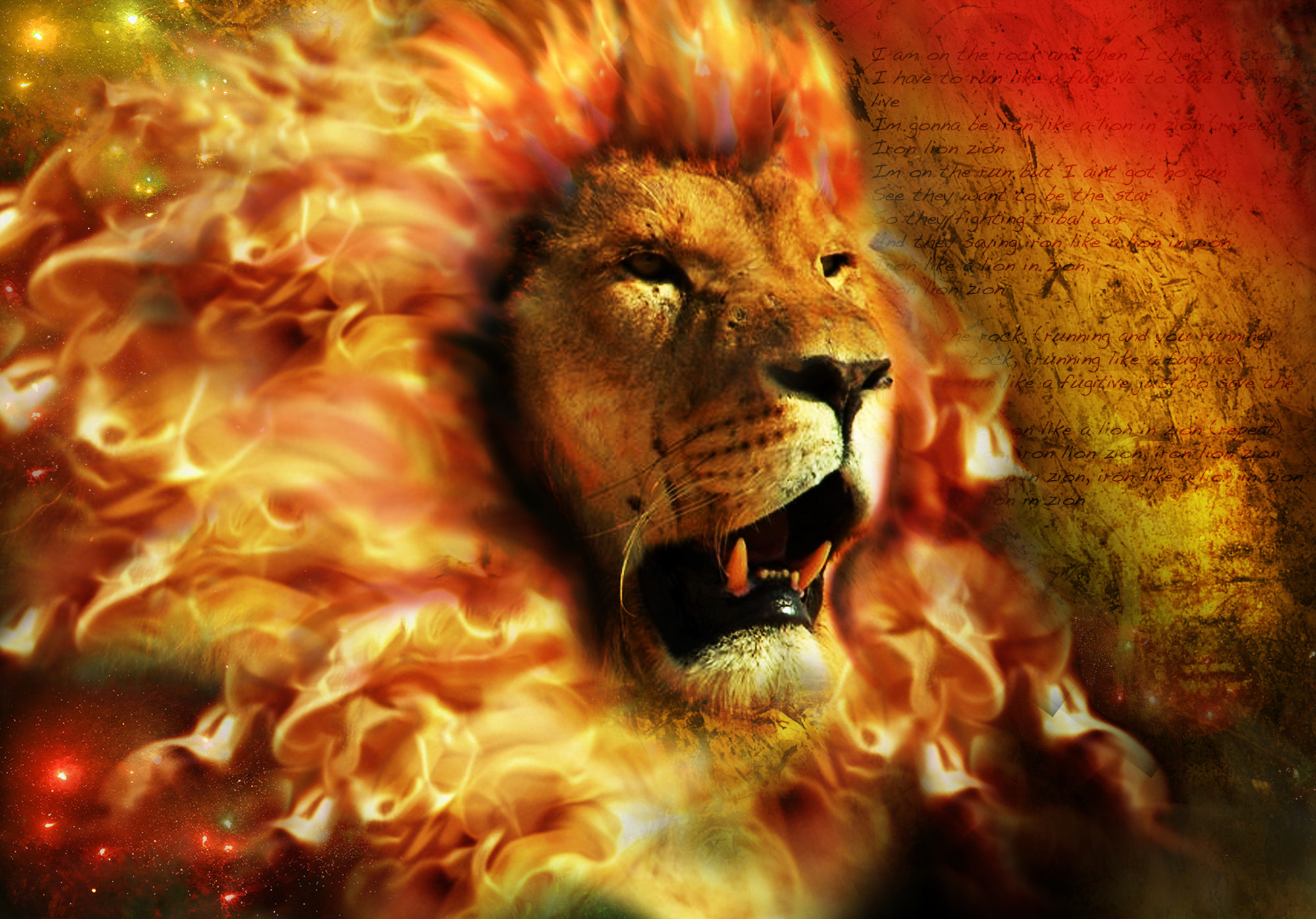 Fire Lion Wallpapers