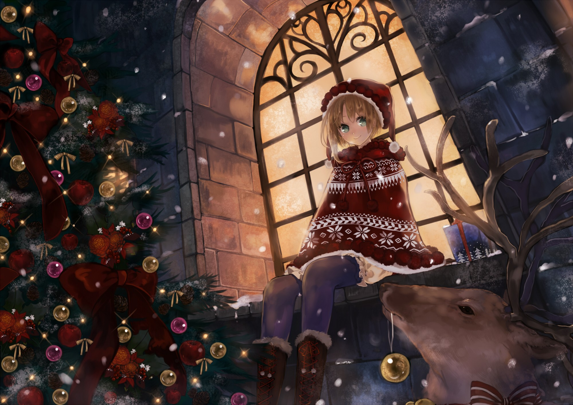 Anime christmas wallpaper download free awesome hd - Anime merry christmas wallpaper ...