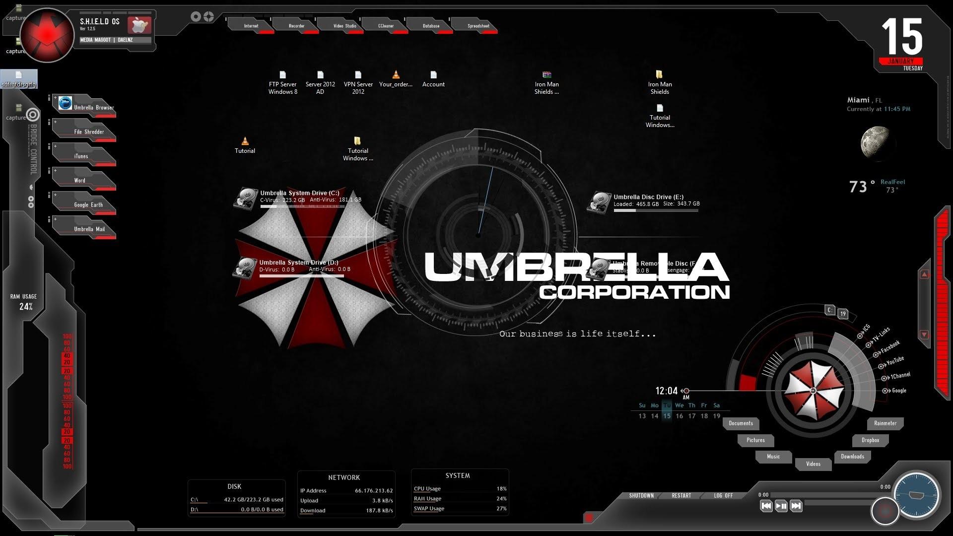 Umbrella corporation background wallpapertag - Umbrella corporation wallpaper hd 1366x768 ...