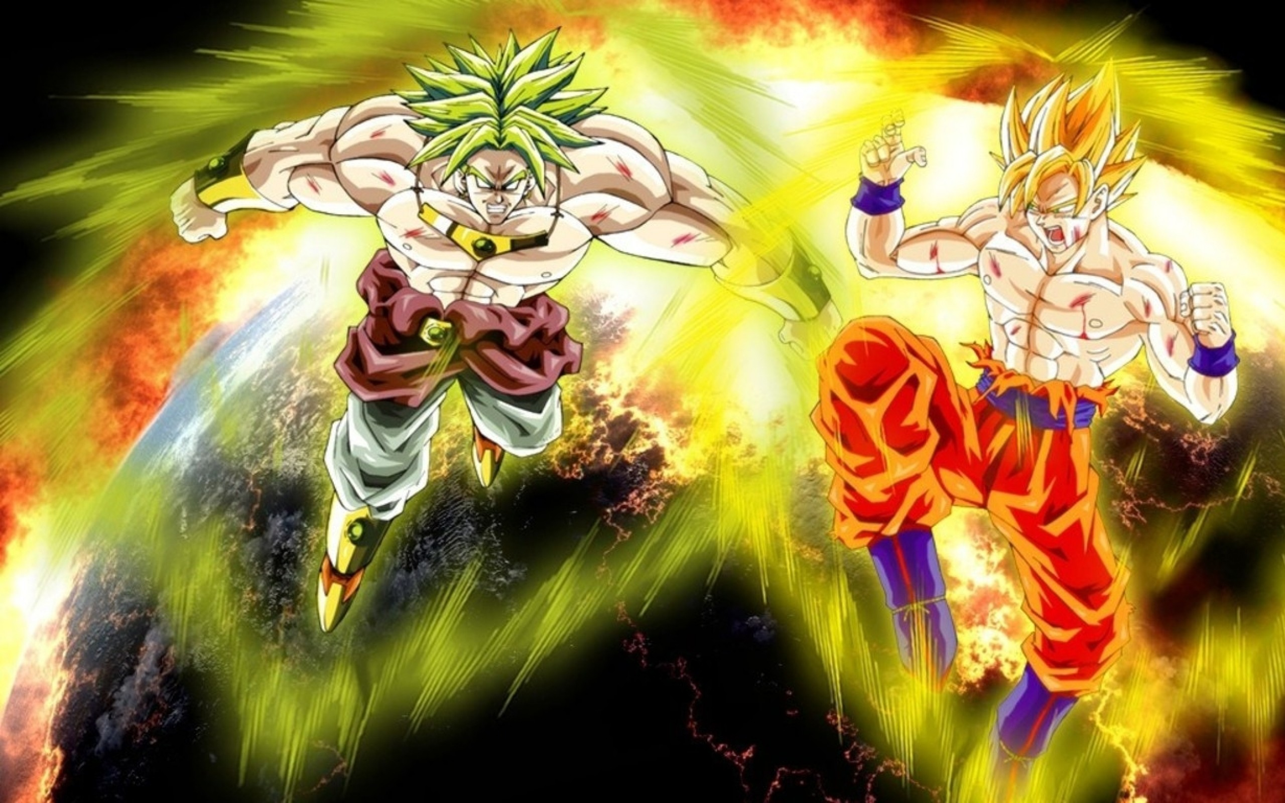 2560x1600 Son Goku Dragon Ball Z Broly Super Saiyan 1280x768 Wallpaper HD Download Widescreen
