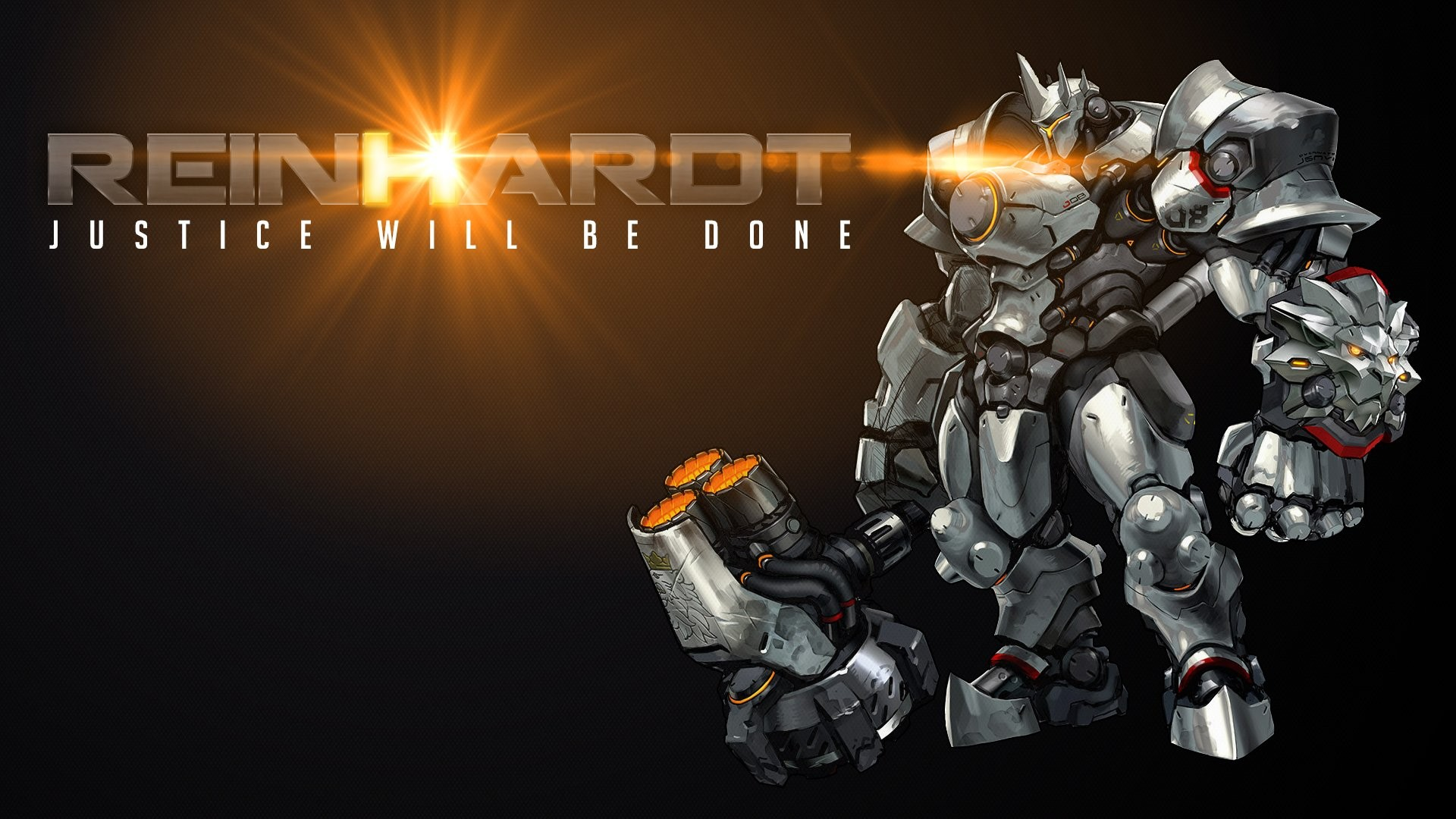 Overwatch Wallpaper 1080p Download Free Cool High: Overwatch Reinhardt Wallpaper ·① Download Free Cool High
