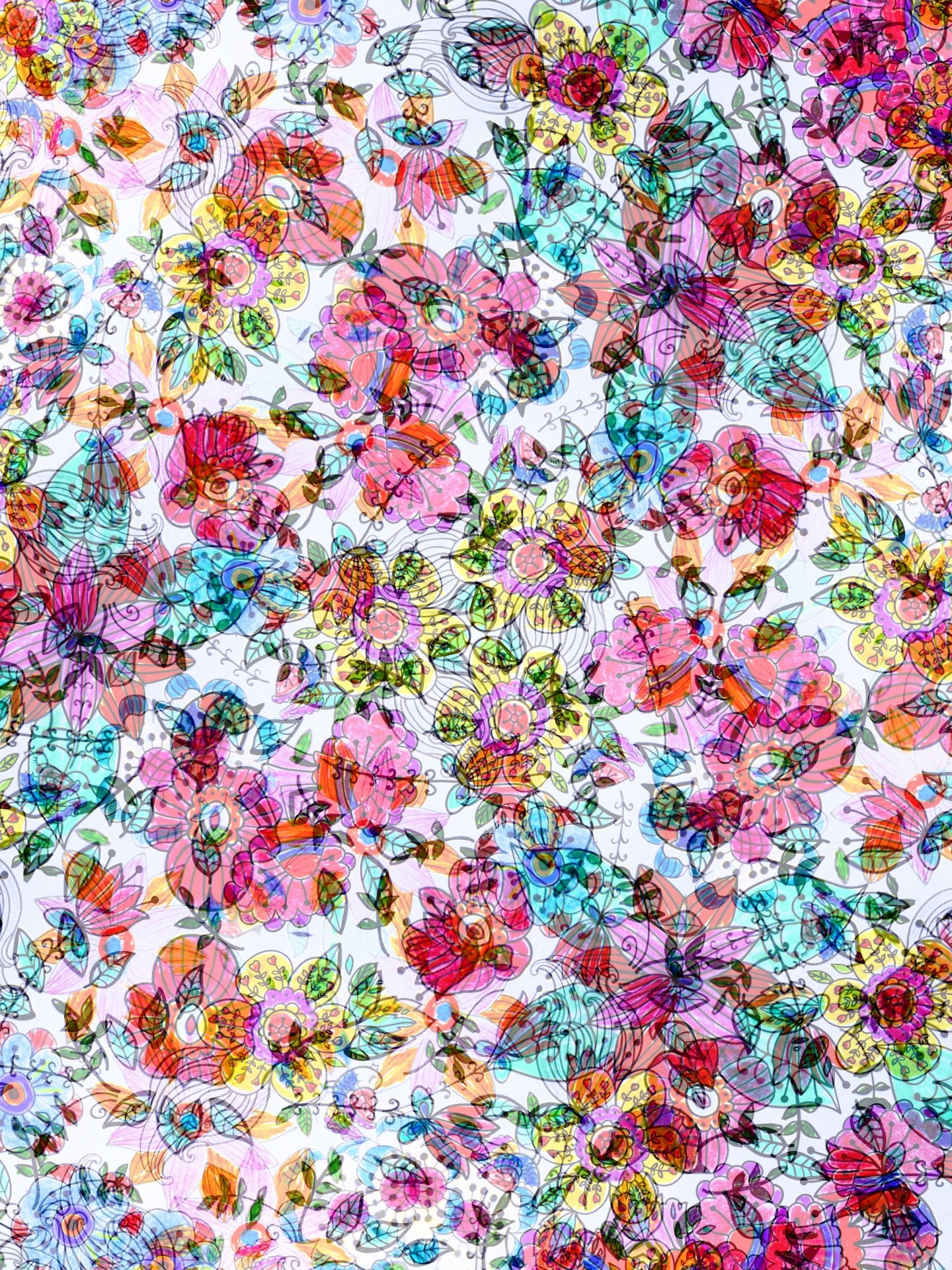 Vintage Floral wallpaper ·① Download free cool High ...