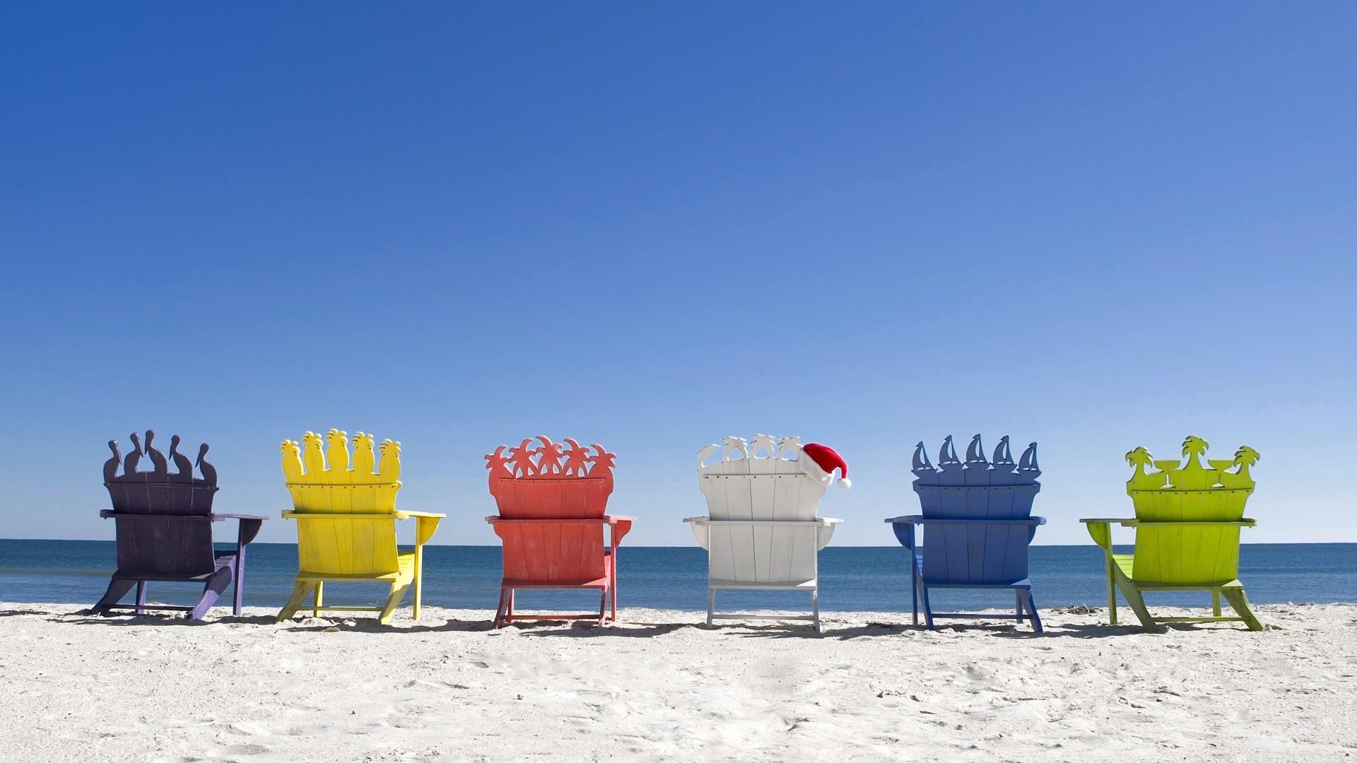 Christmas Beach Wallpaper ·①