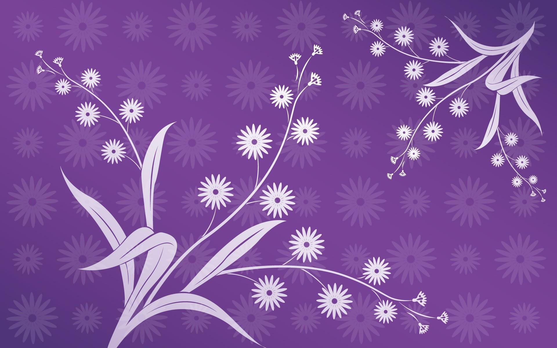 1920x1200 Vintage Purple Floral Wallpaper Download