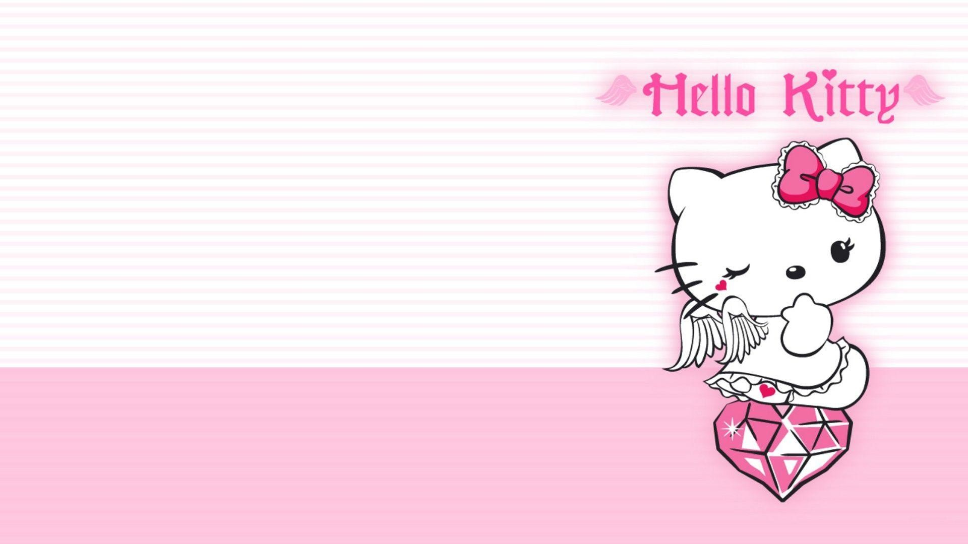 Pink Hello Kitty Background ·① WallpaperTag