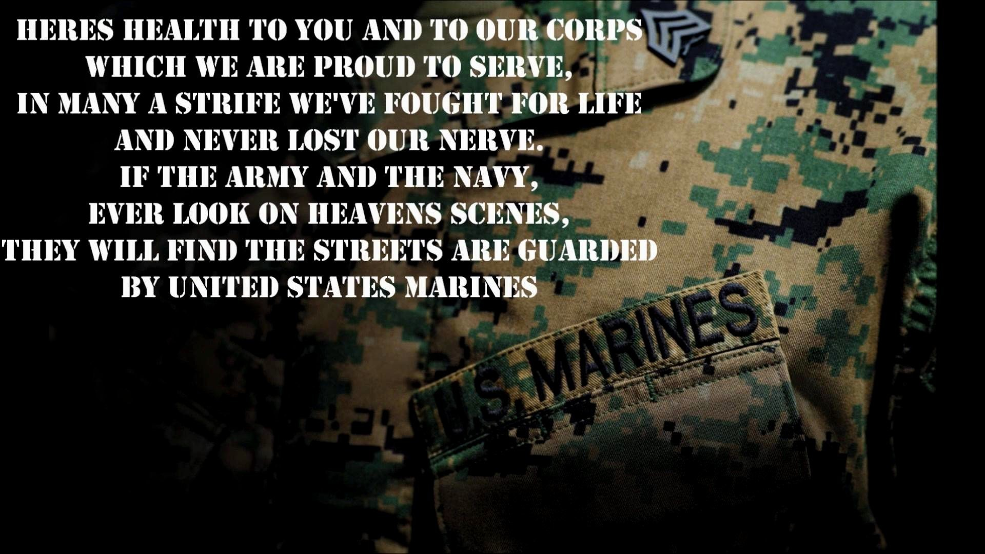 Famous Marine Corps Quotes Marine Corp Wallpaper ·①