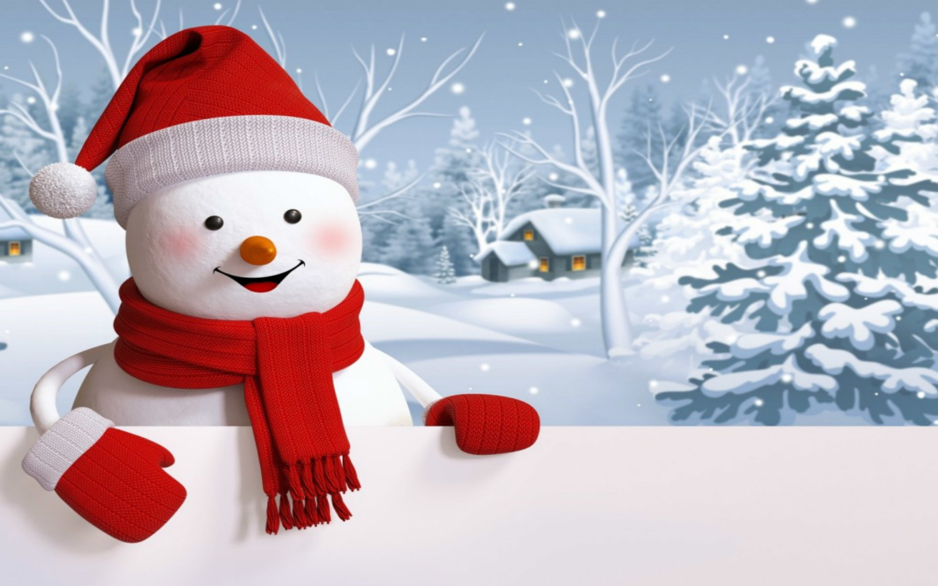 Hd Happiest Snowman Wallpaper