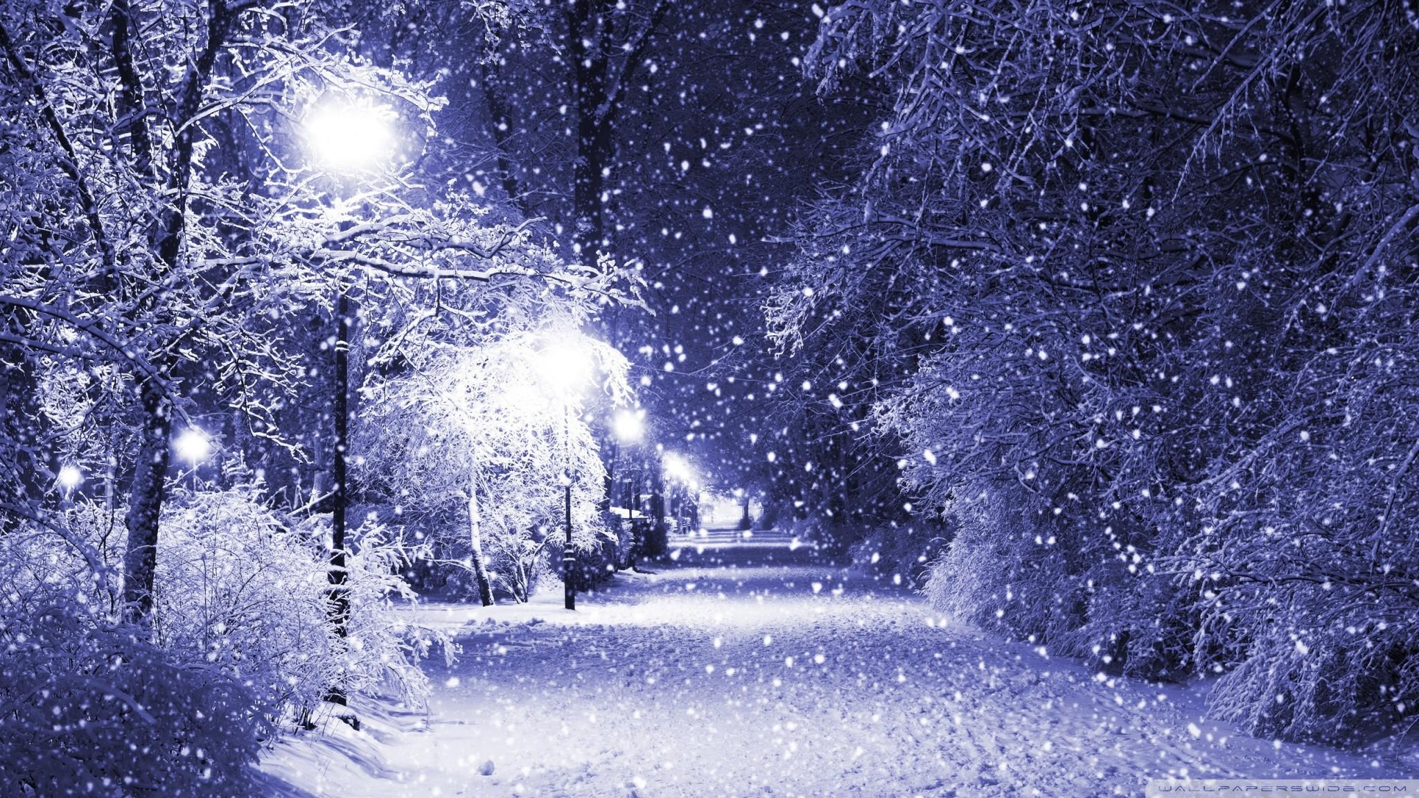 Christmas Snow Scene Wallpaper 1