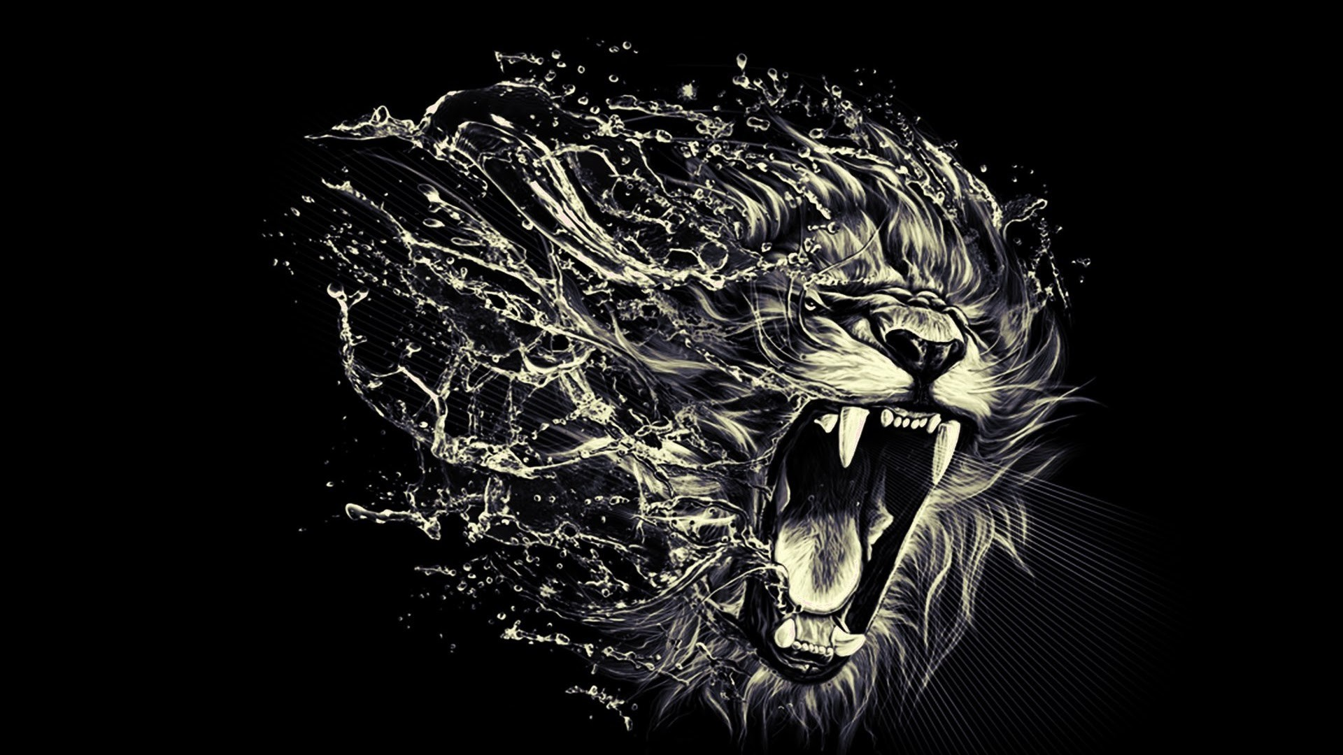 Angry Lion Eyes Wallpaper