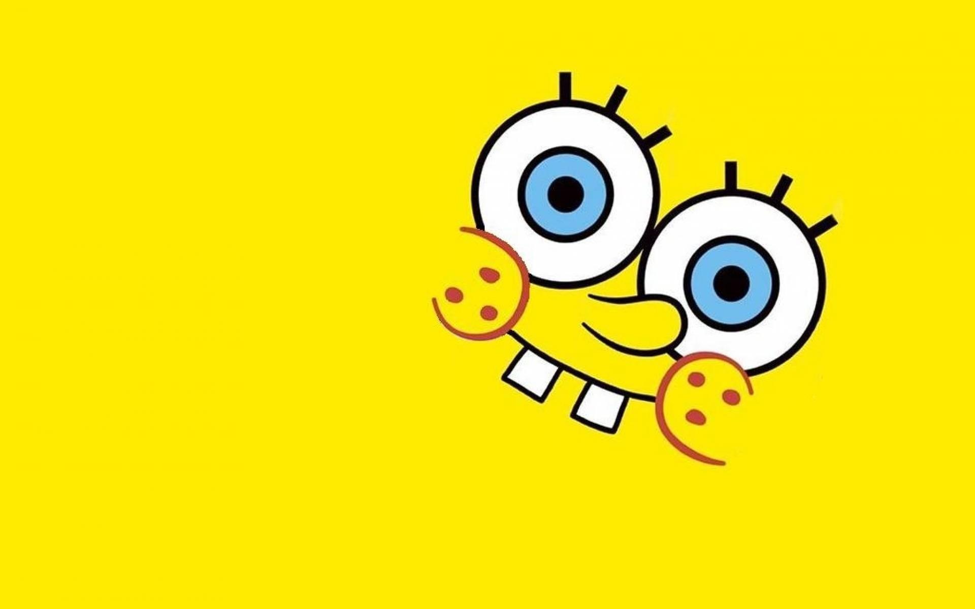 Spongebob Flower Sky Background