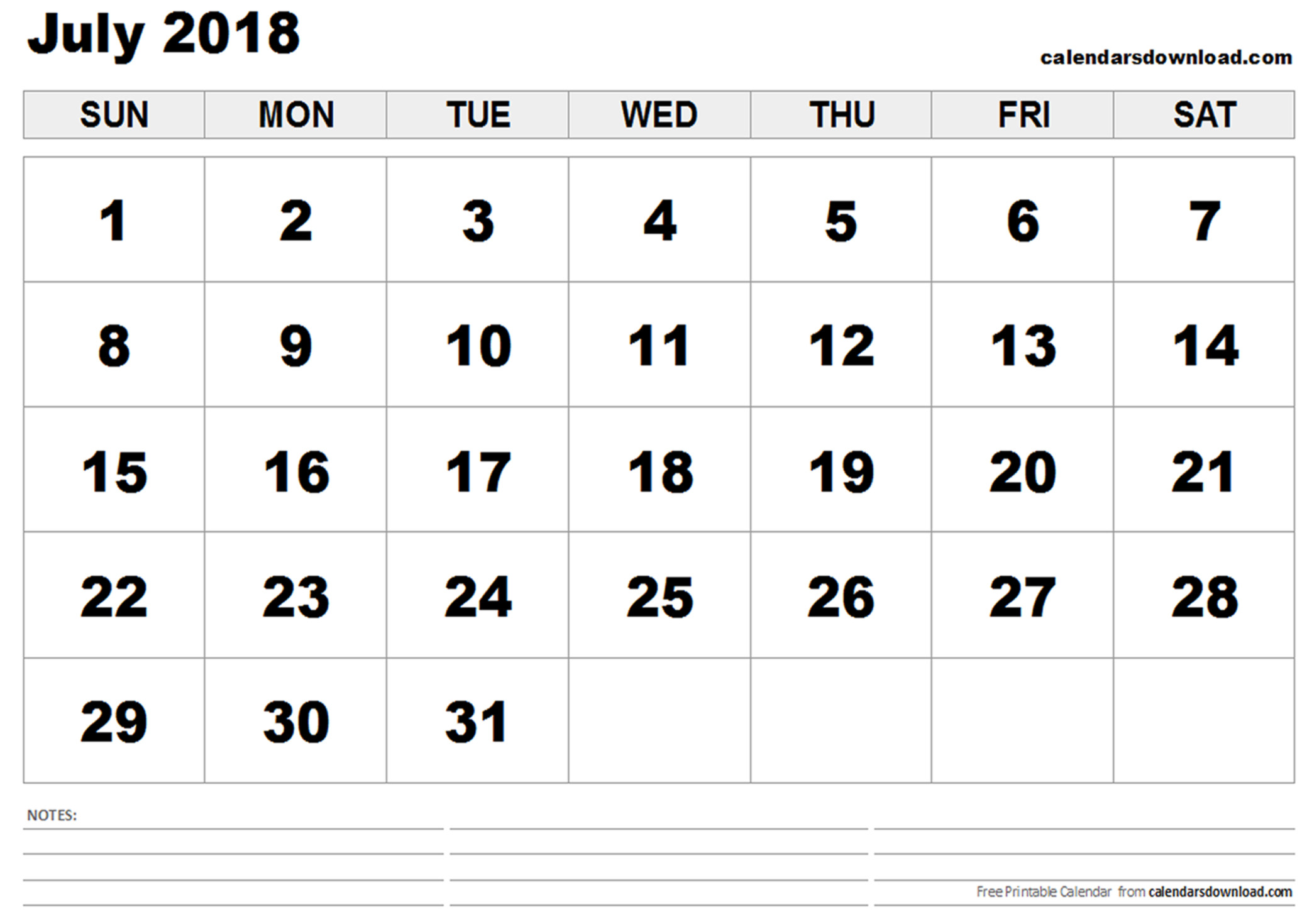 desktop wallpapers calendar july 2018