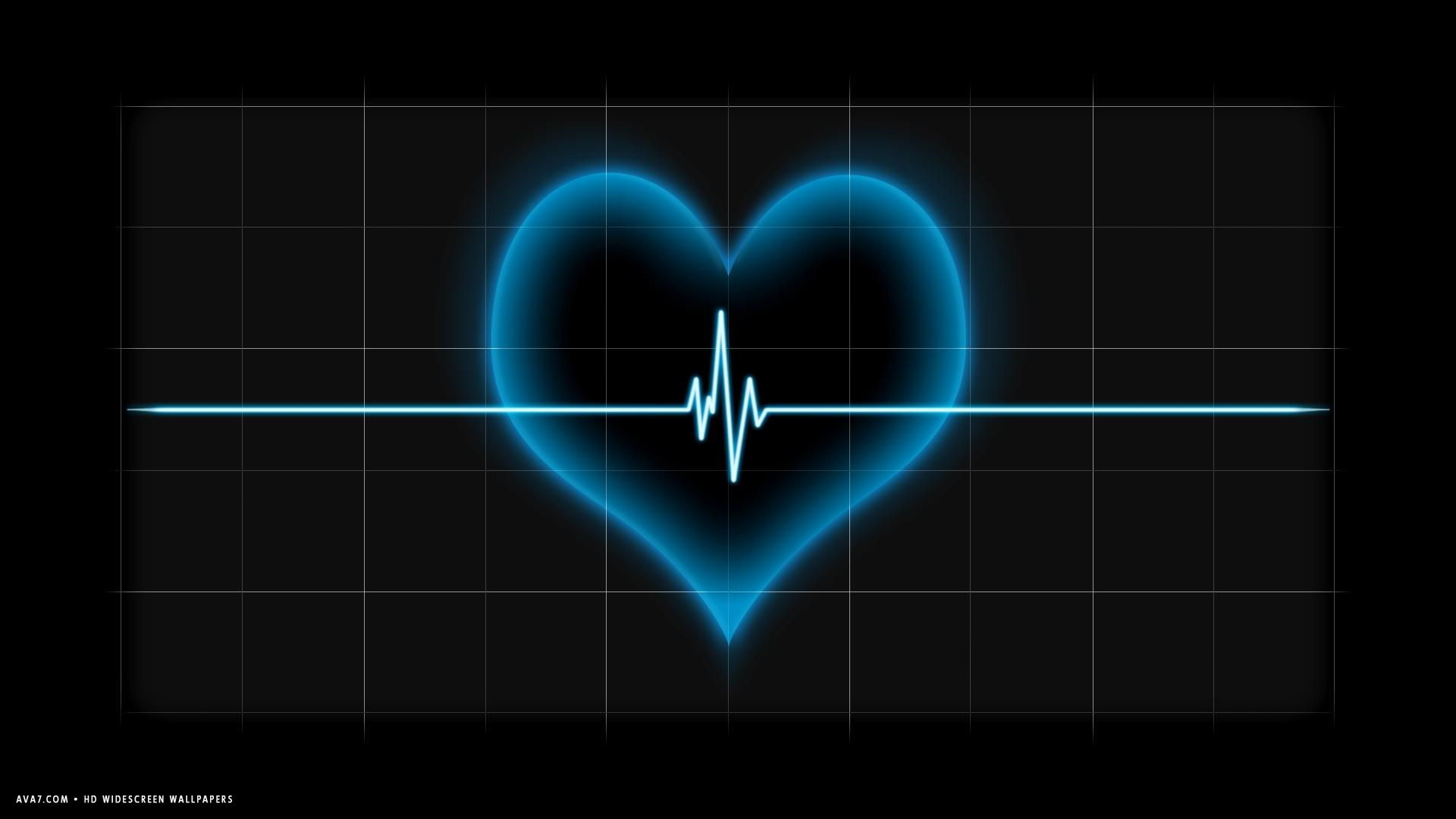 Hd Wallpapers Pulse: Blue Heart Wallpaper ·① WallpaperTag