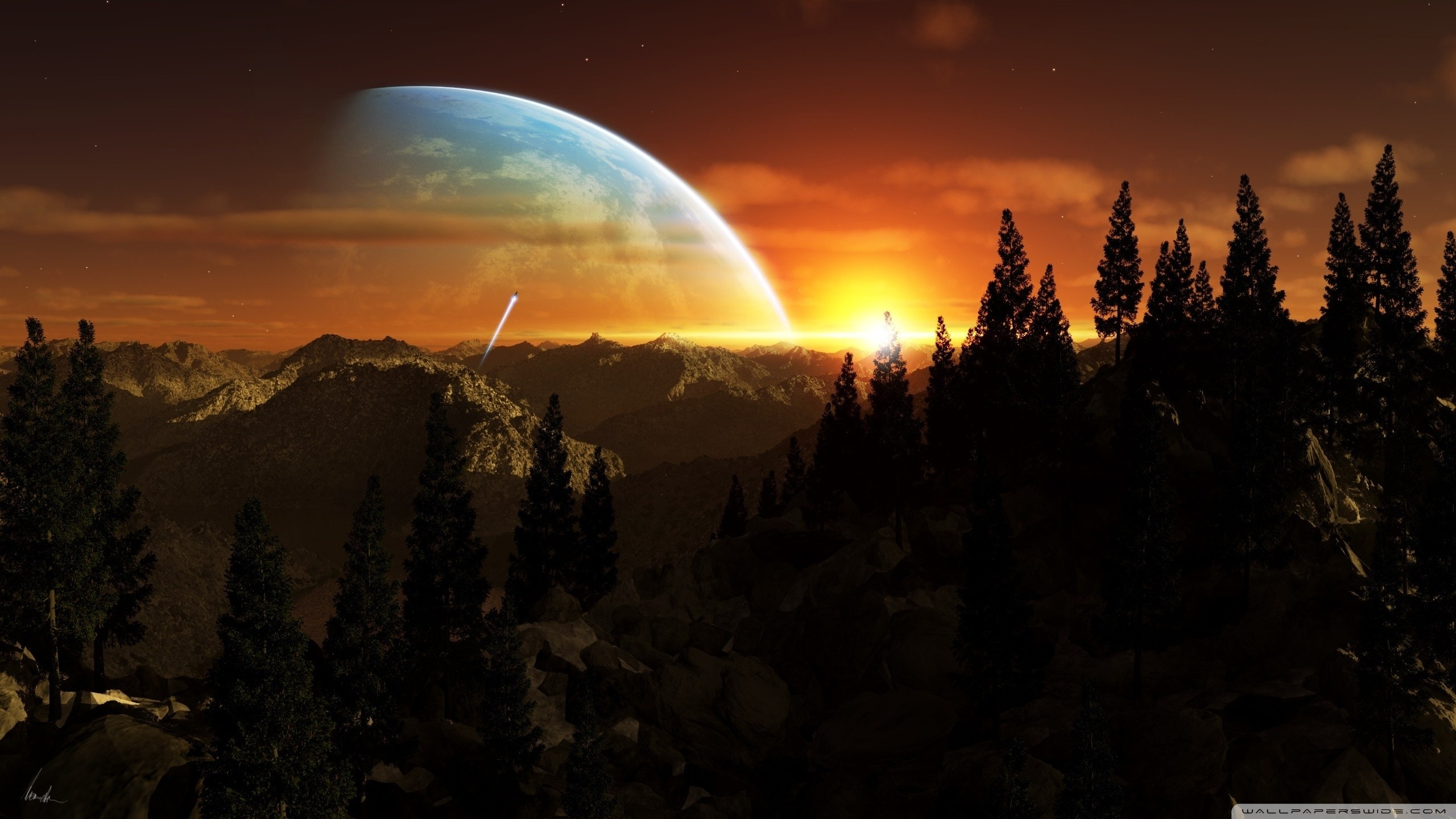 alien planet wallpaper 183��