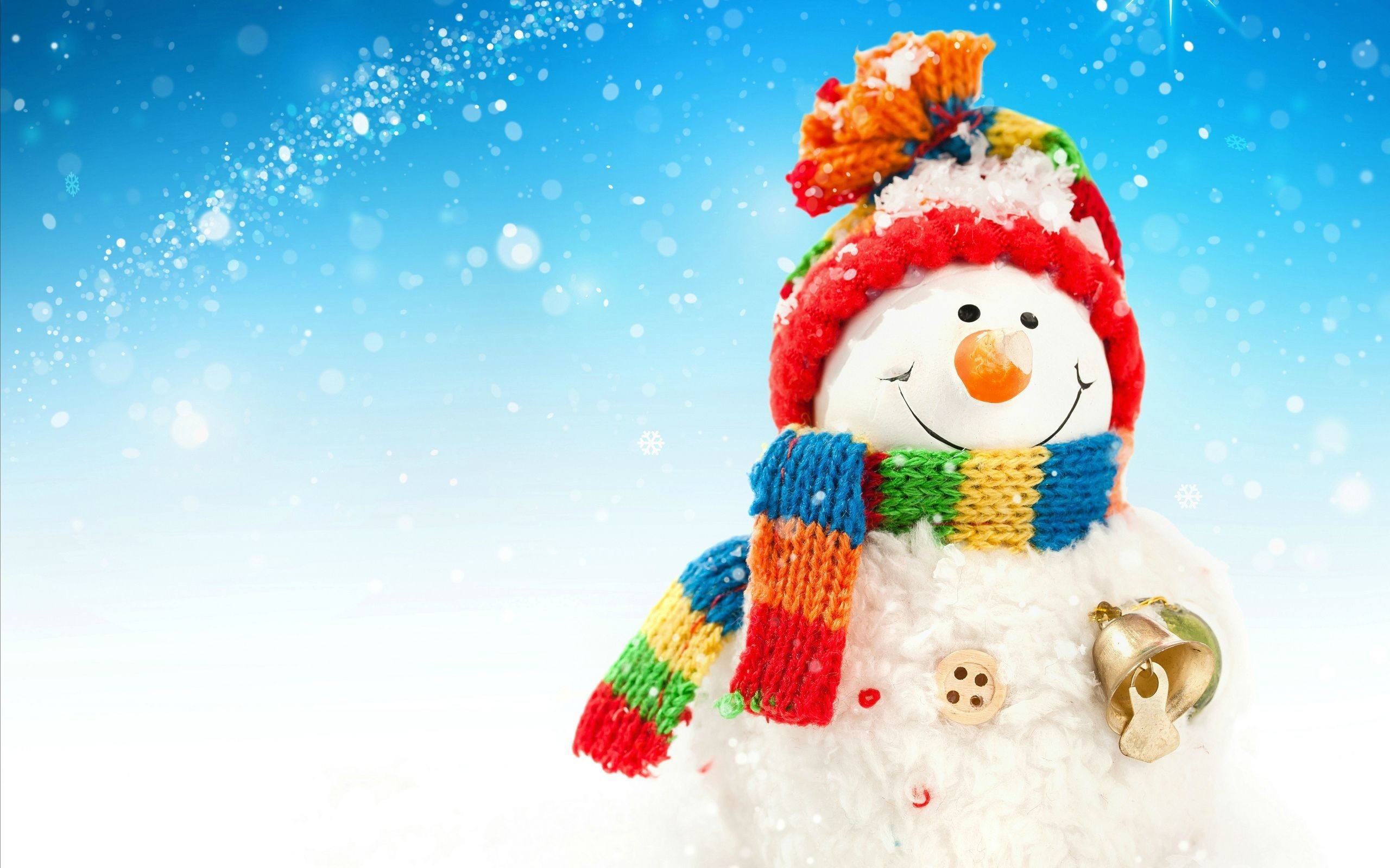 2560x1600 Snowman Wallpaper Background 17496