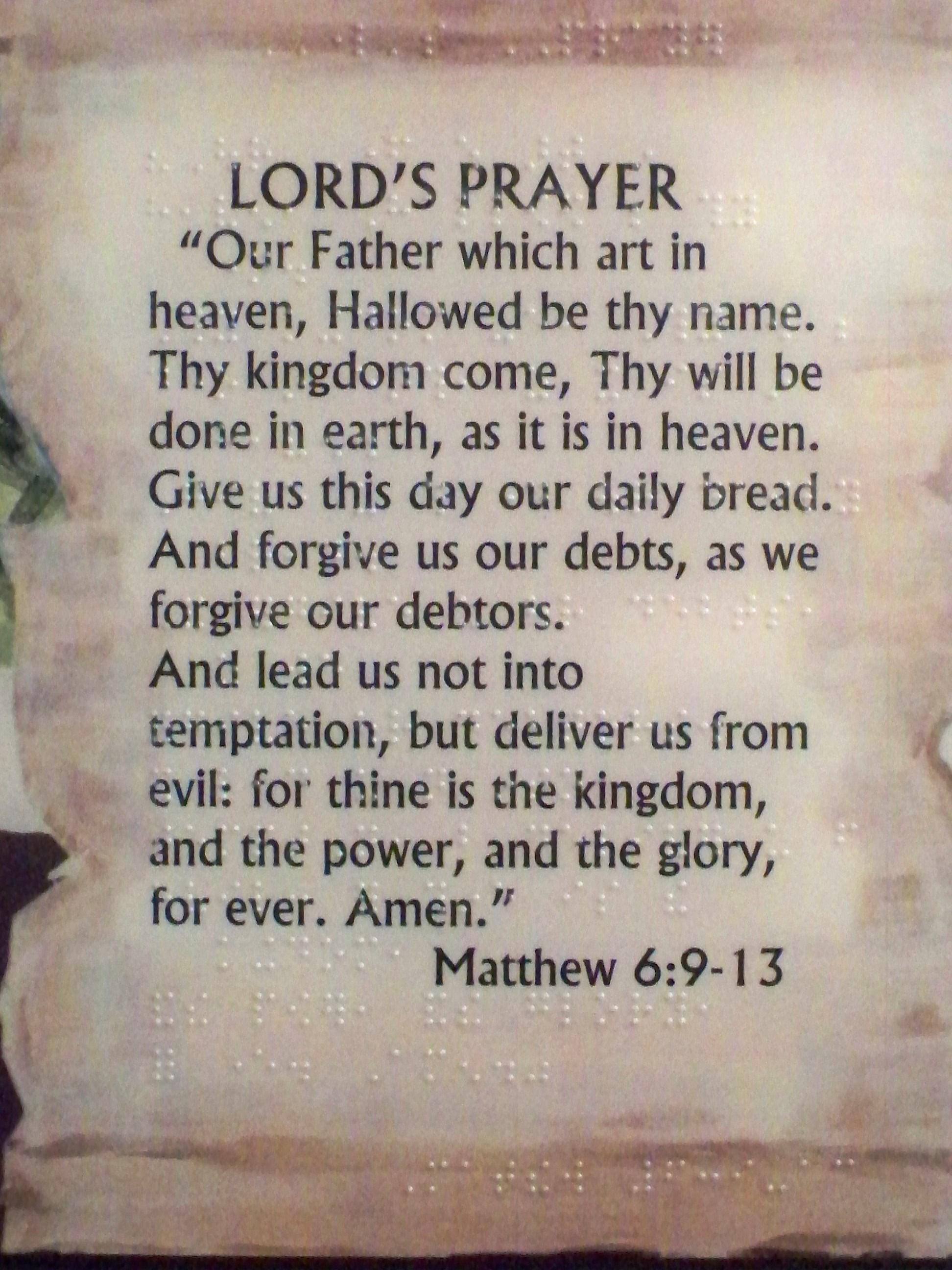 Intrepid image in the lord's prayer kjv printable