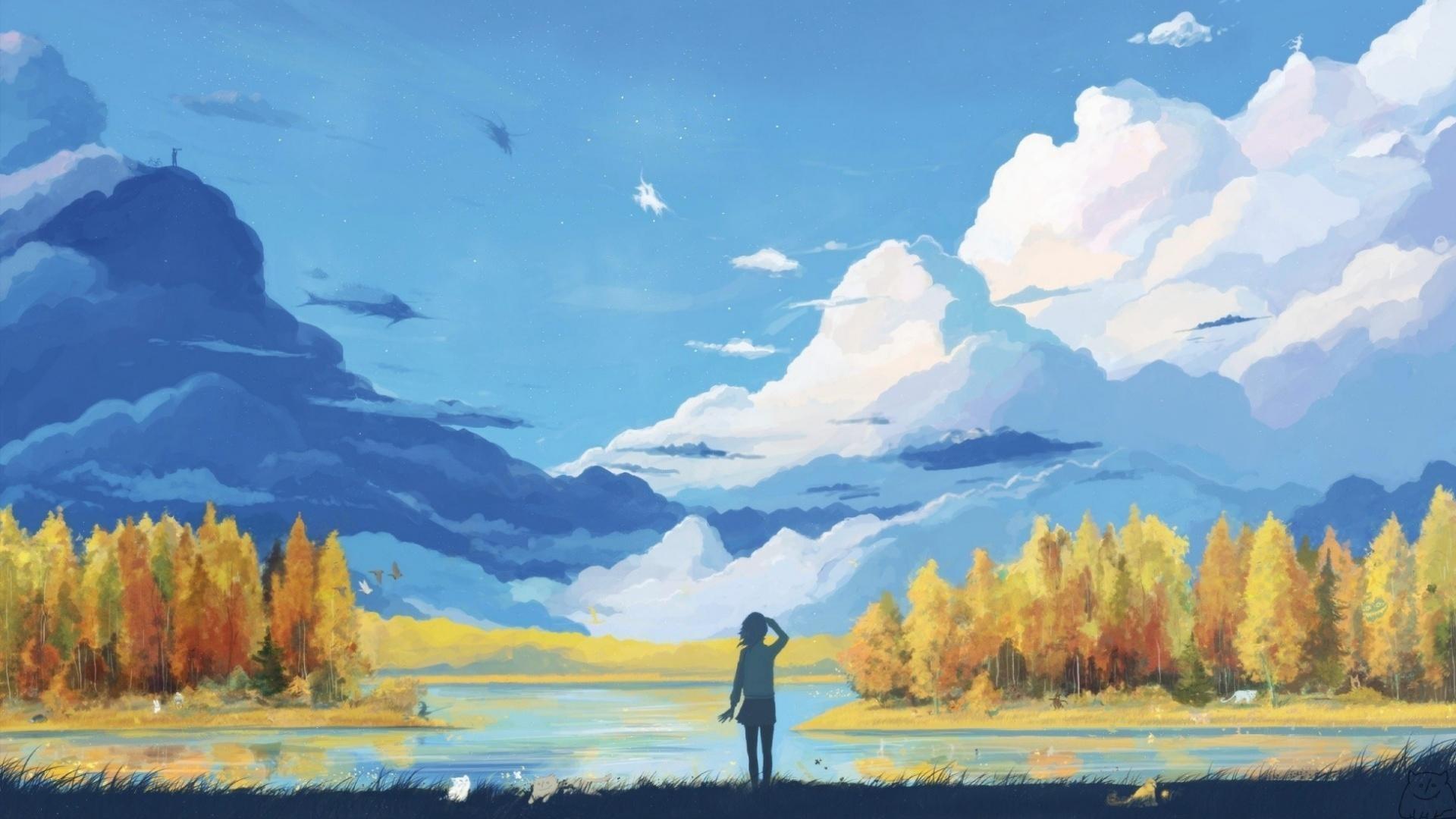 1920x1080 wallpaper.wiki-Anime-Landscape-Wallpaper-HD-Free-Download-