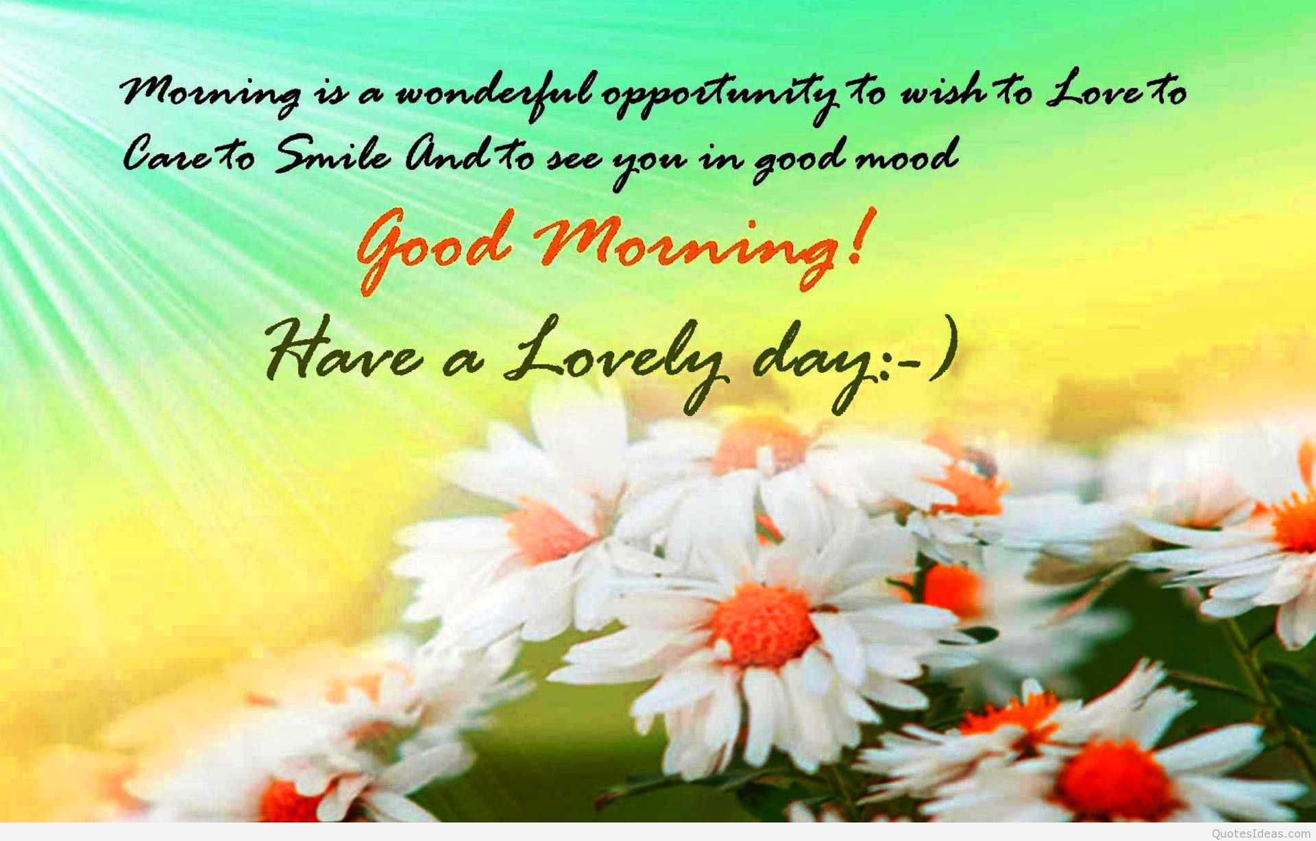 Good Morning Wishes Wallpaper ·â'