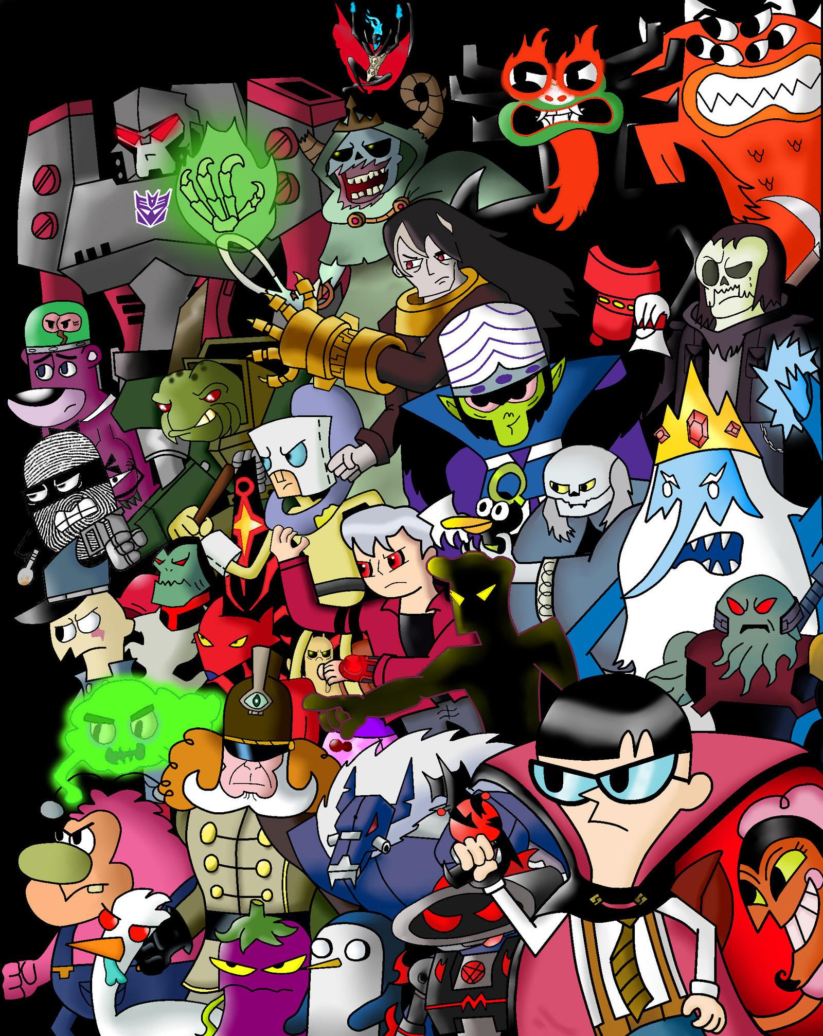 Cartoon network backgrounds wallpapertag - Cartoon character wallpaper ...