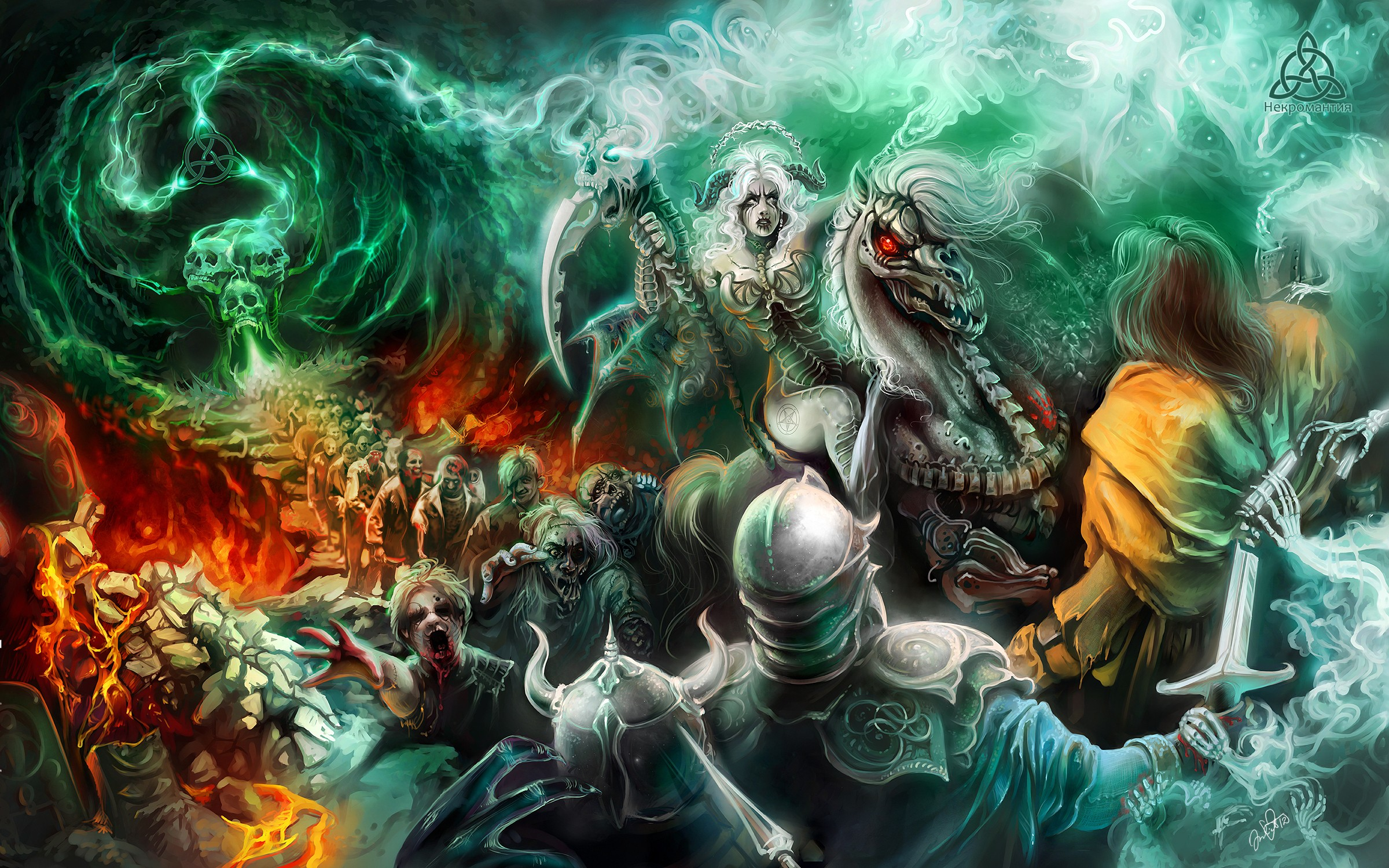 Fantasy Art Necromancers Wallpapers Hd Desktop And: 33+ Zombie Backgrounds ·① Download Free Beautiful High