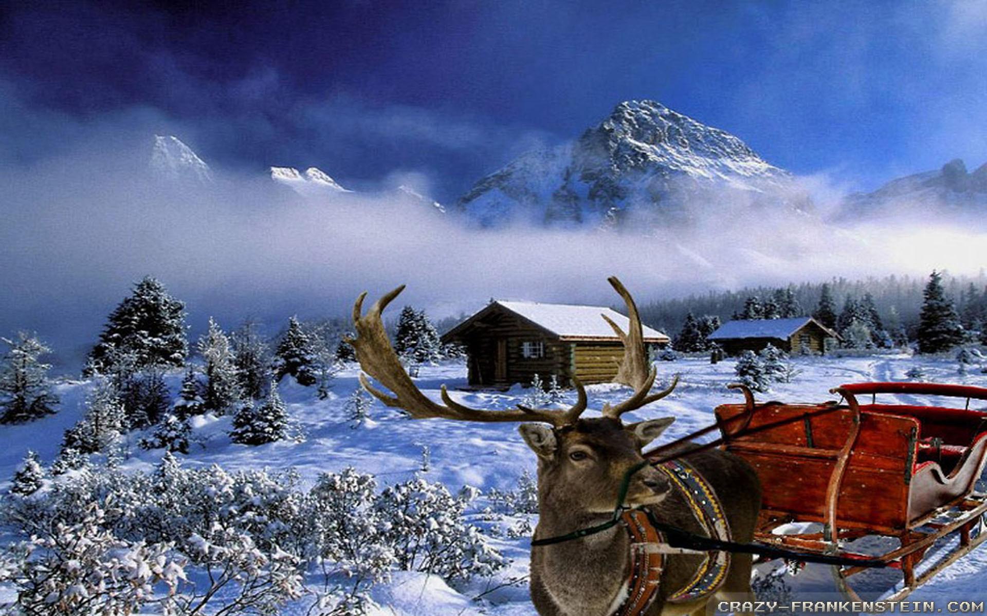 Christmas Winter Scenes Wallpaper ·① WallpaperTag