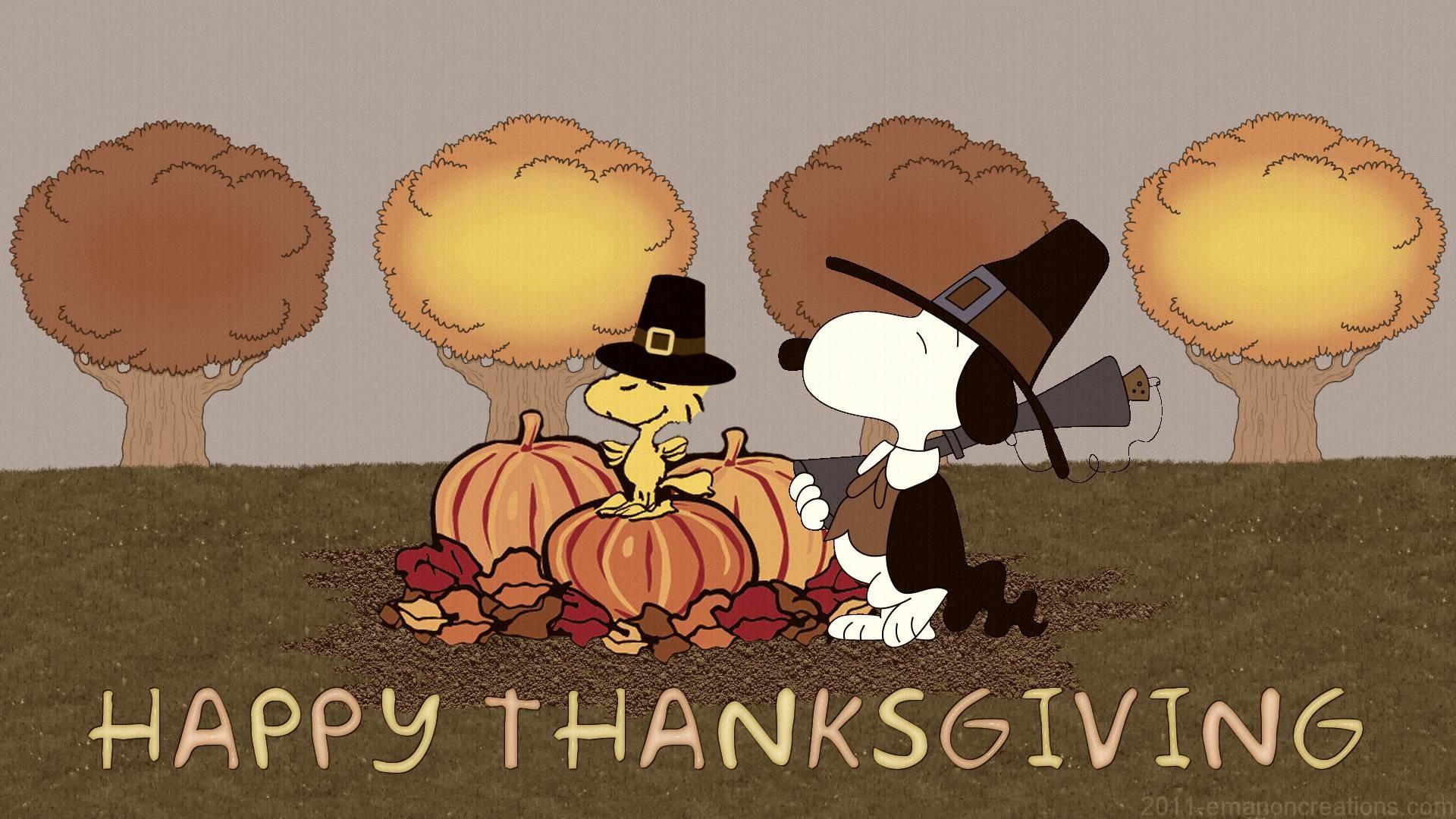 Peanuts Thanksgiving Wallpaper 1