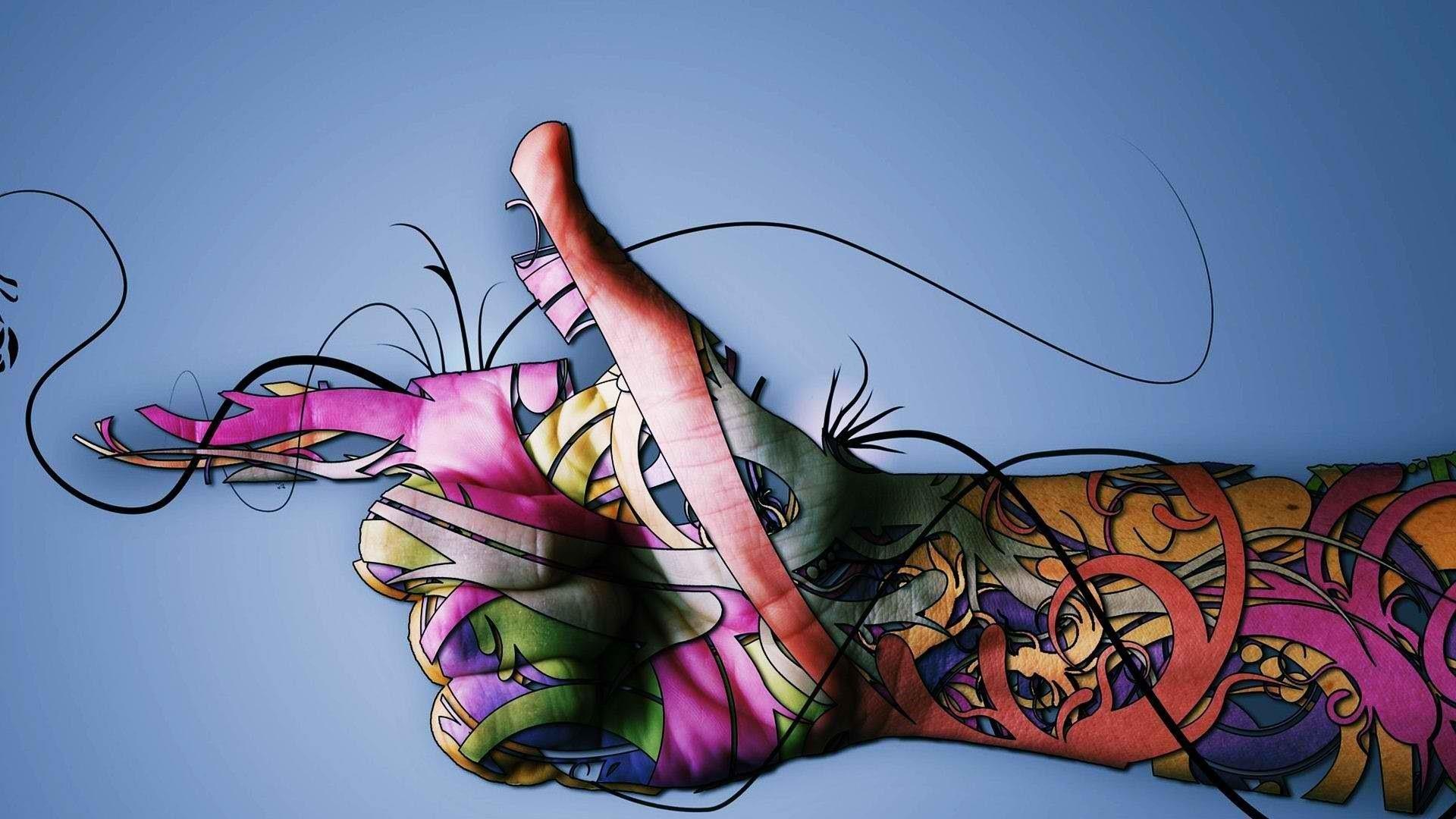 wallpaper tattoo colourful - photo #42