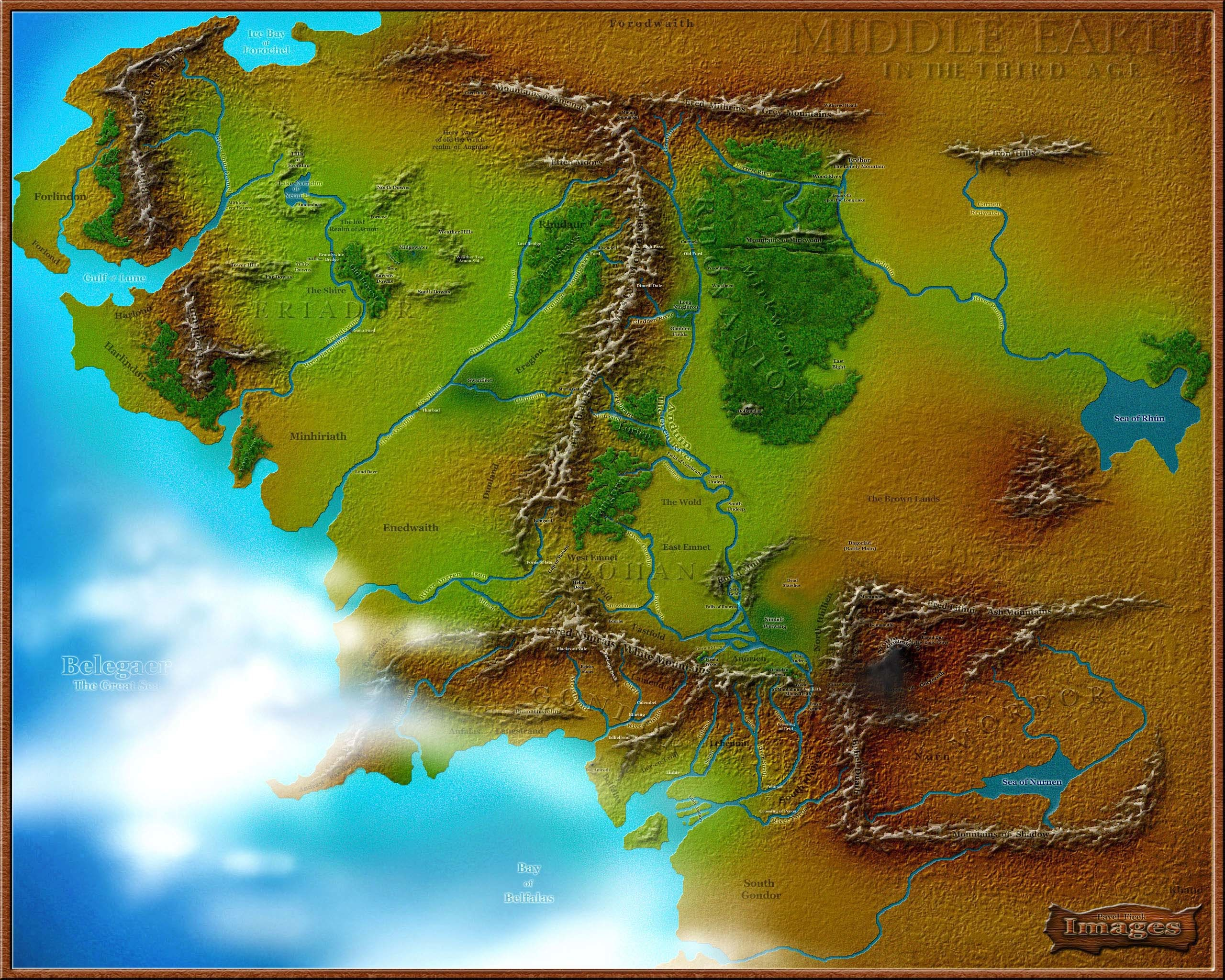 Diagram Of Middle Earth