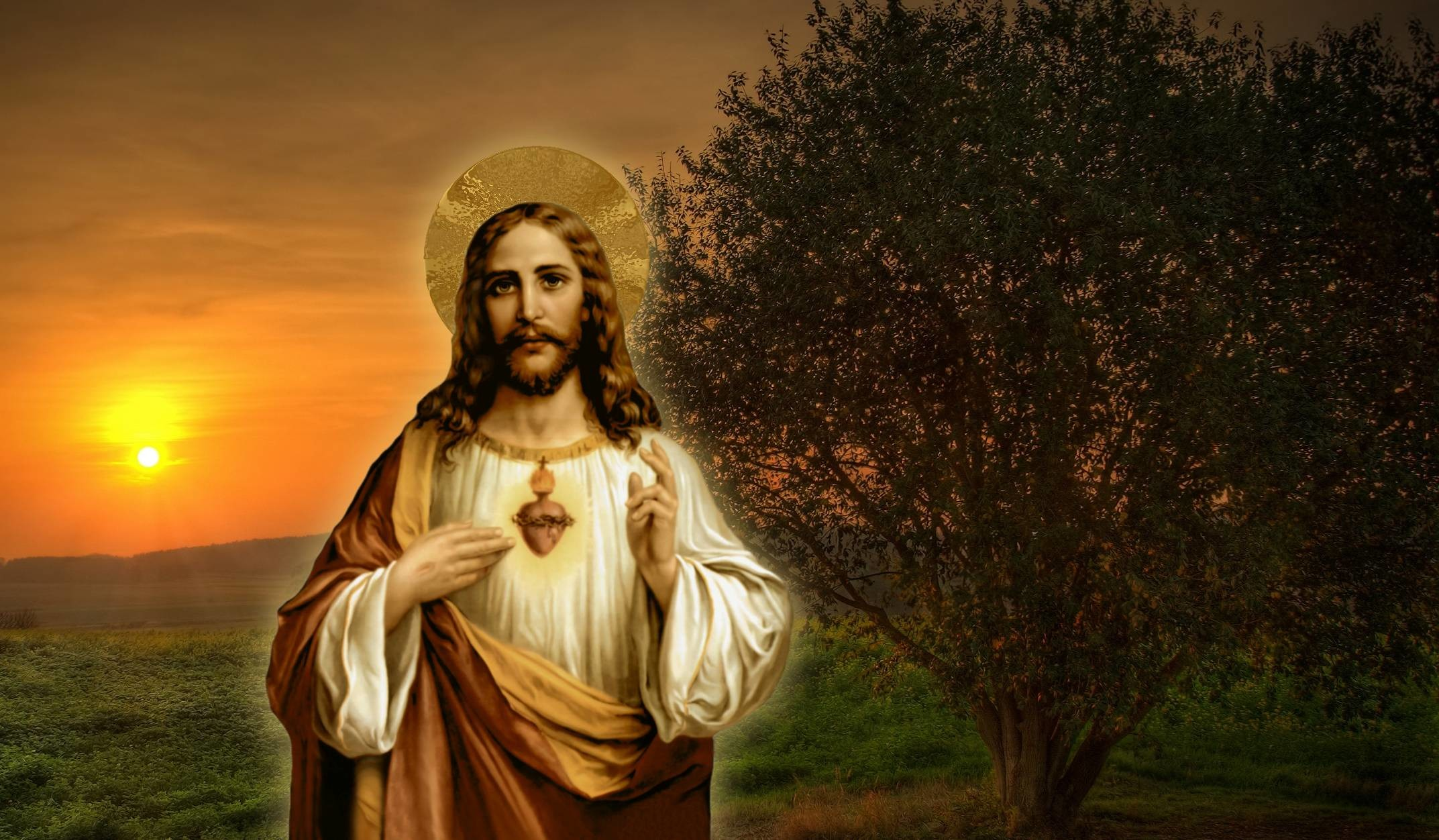Sacred Heart Of Jesus Wallpaper ①