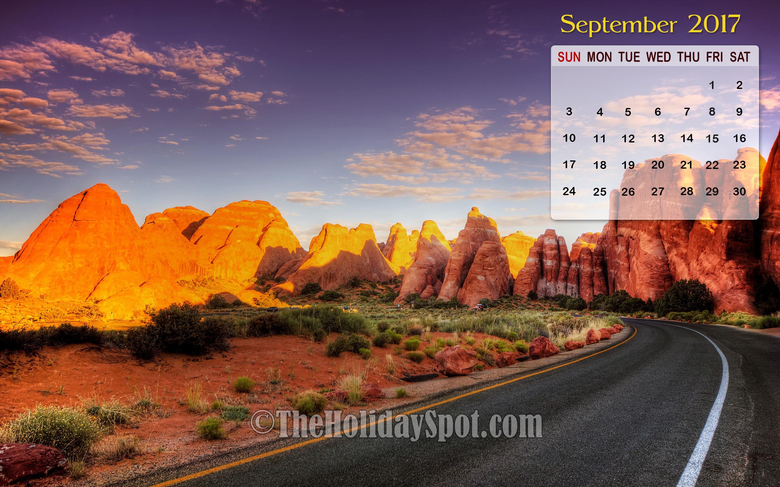 Calendar Desktop Wallpaper September : Desktop wallpapers calendar september ·①