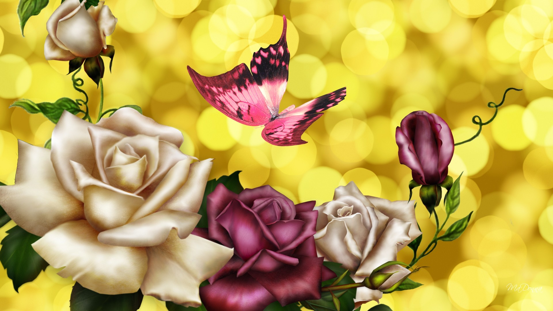 Pink Butterfly Backgrounds ·① WallpaperTag