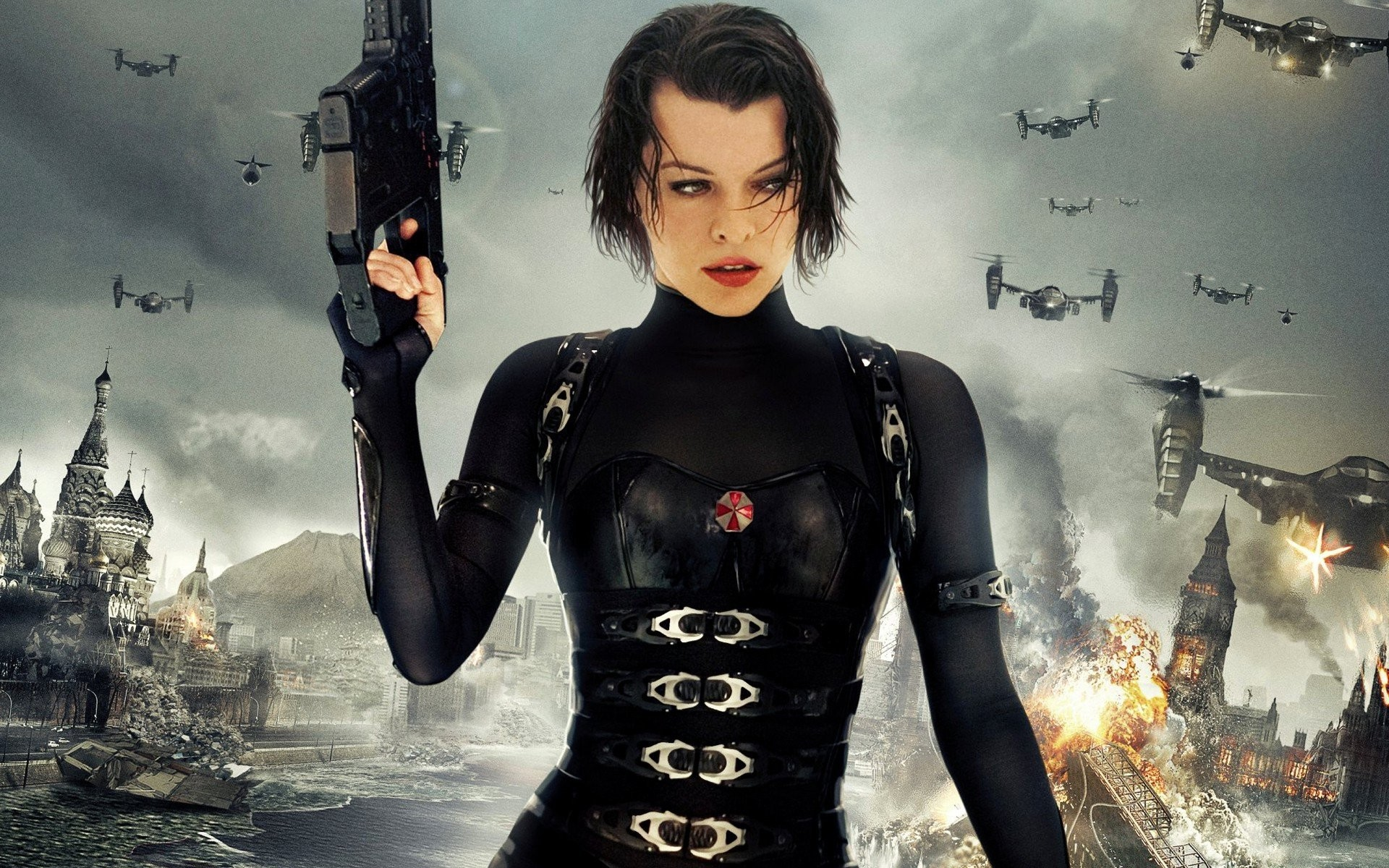 Wallpaper Milla Jovovich Ali Larter Ruby Rose Resident: Milla Jovovich Wallpaper Resident Evil ·①